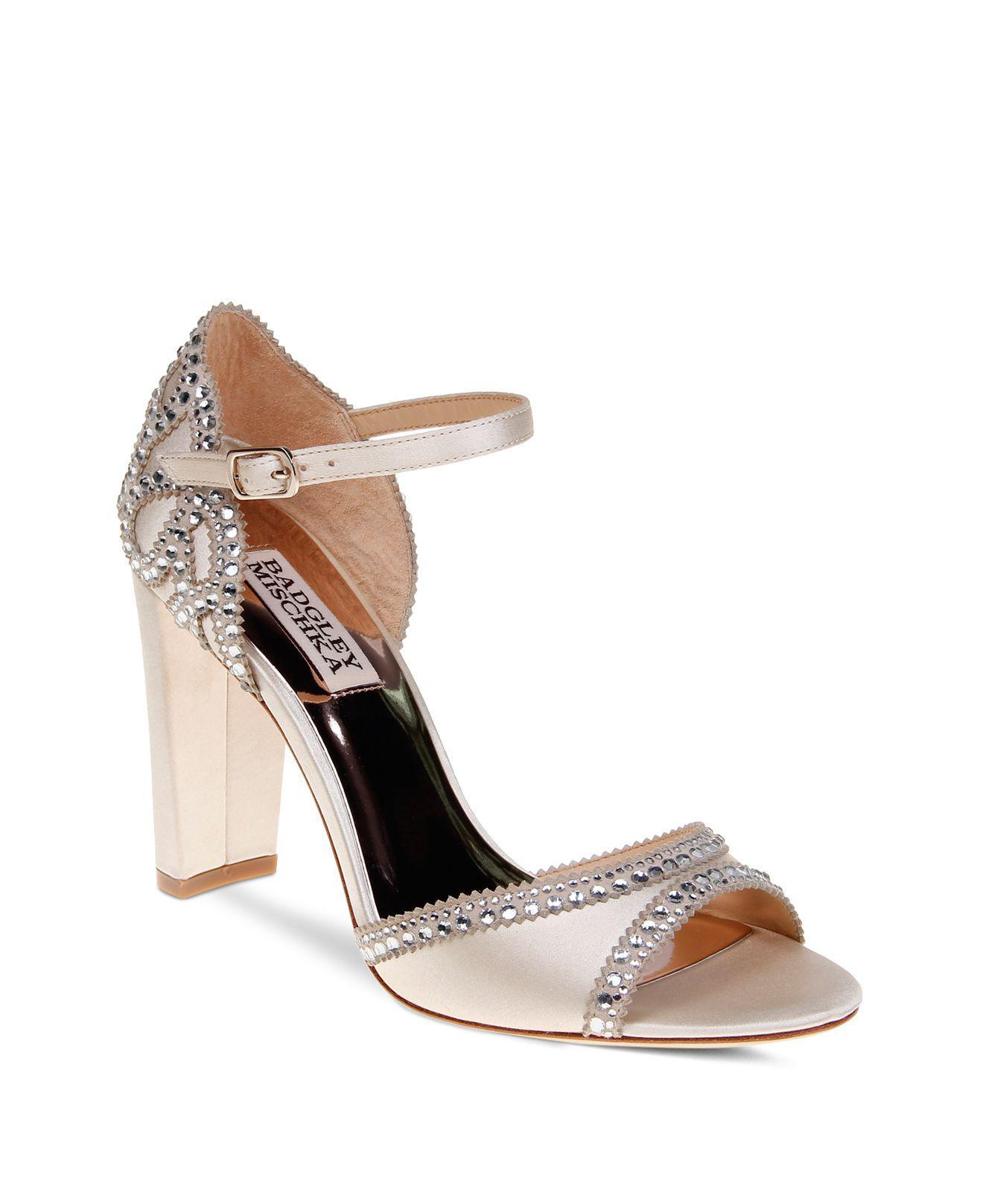 Badgley Mischka Kelly Embellished Suede High-Heel Sandals DWPPRDcJem