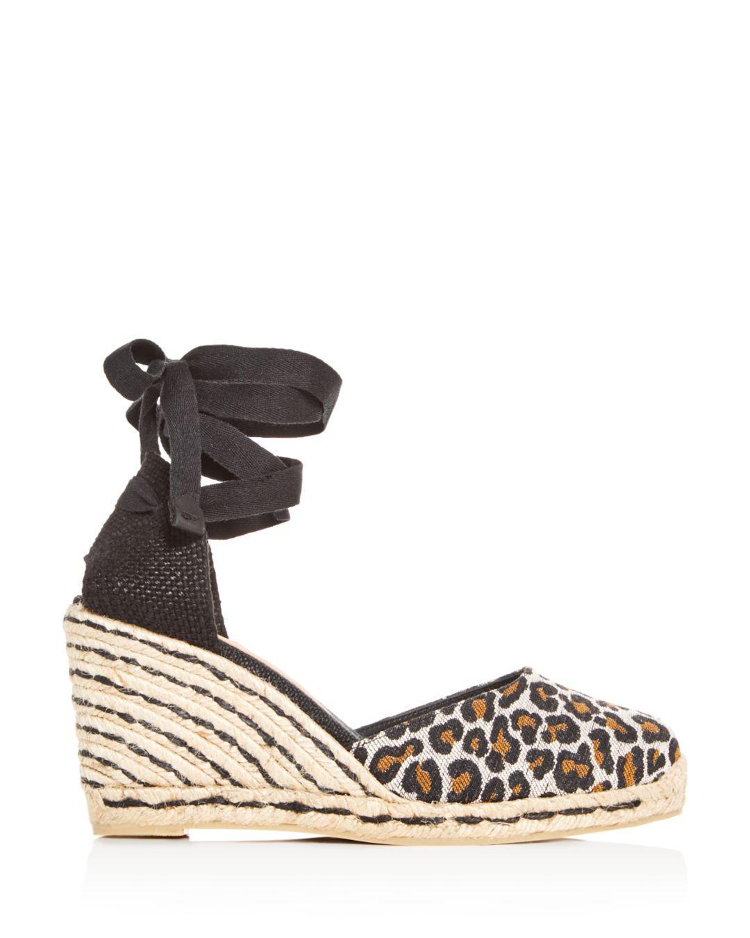 35cc44f52969 Lyst - Castaner Women s Carina Ankle-tie Platform Wedge Espadrille Sandals  in Black