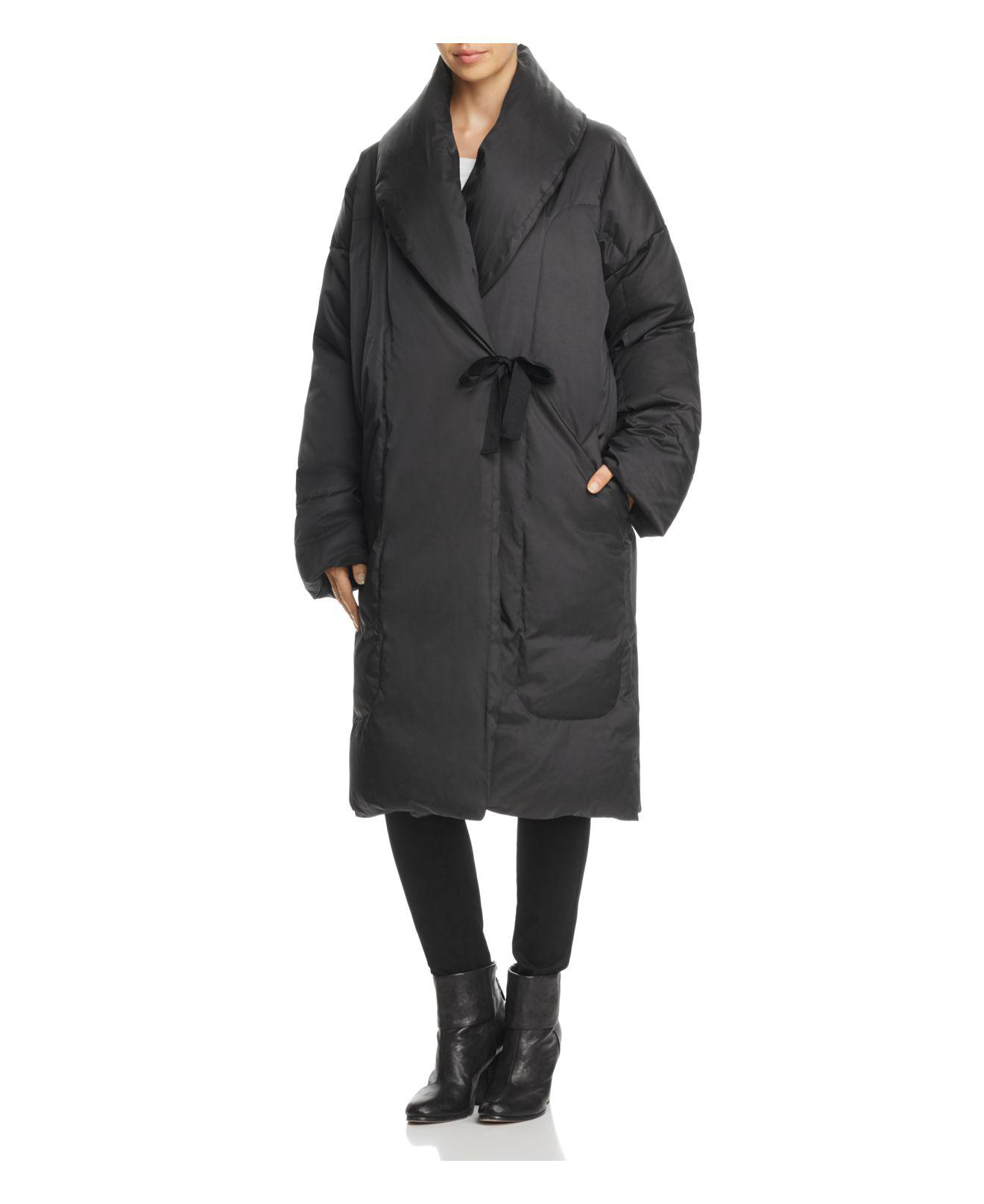 Donna Karan Oversized Puffer Coat In Black Lyst