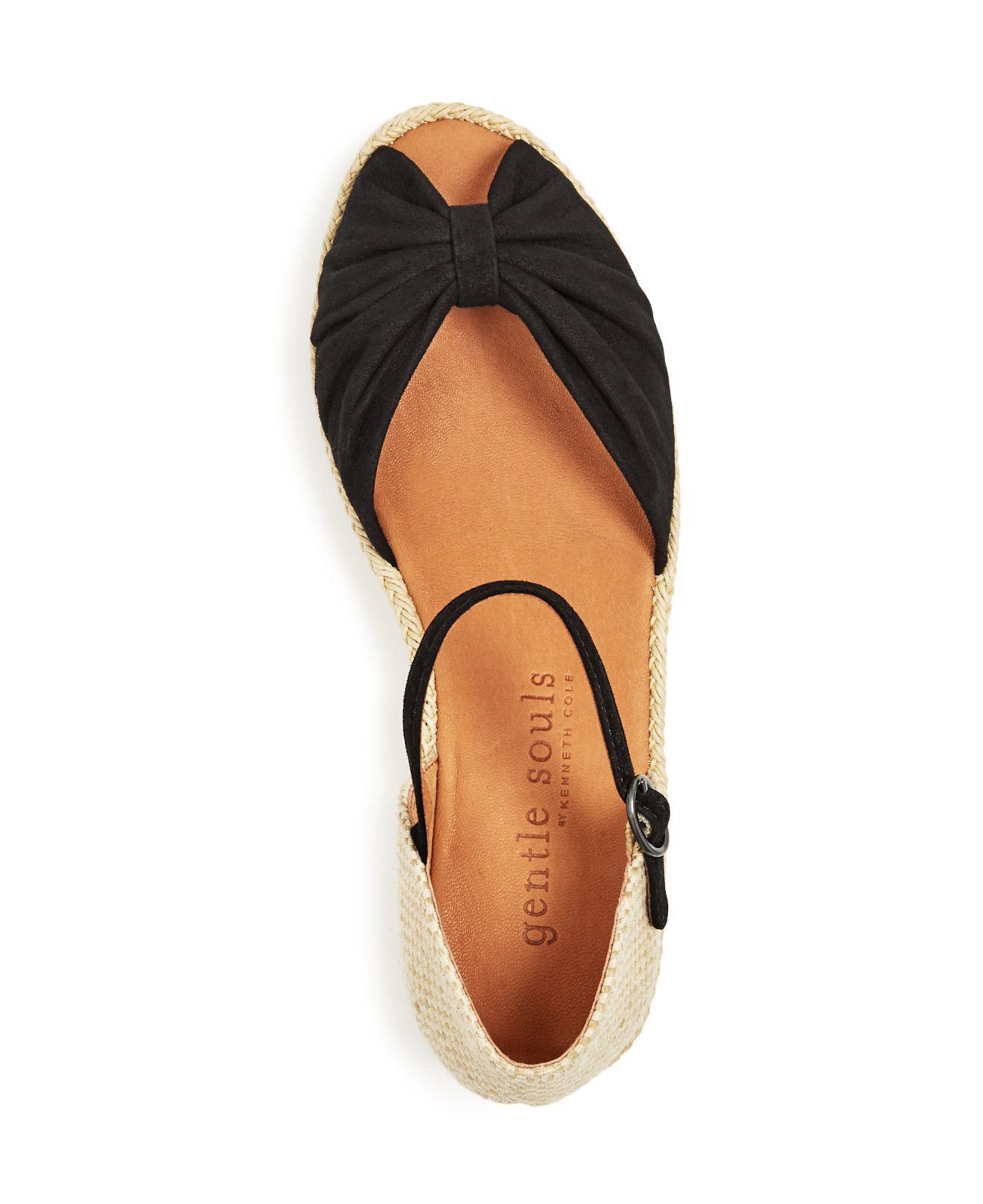 96434a35662 Gentle Souls Multicolor Women's Lucille Suede Demi Wedge Espadrille Sandals