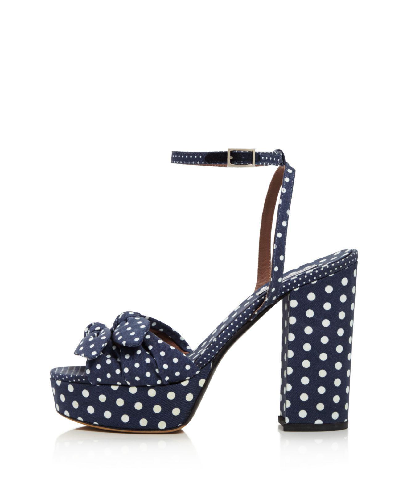 Tabitha Simmons Jodie Polka Dot Platform High-Heel Sandals 3sH8k