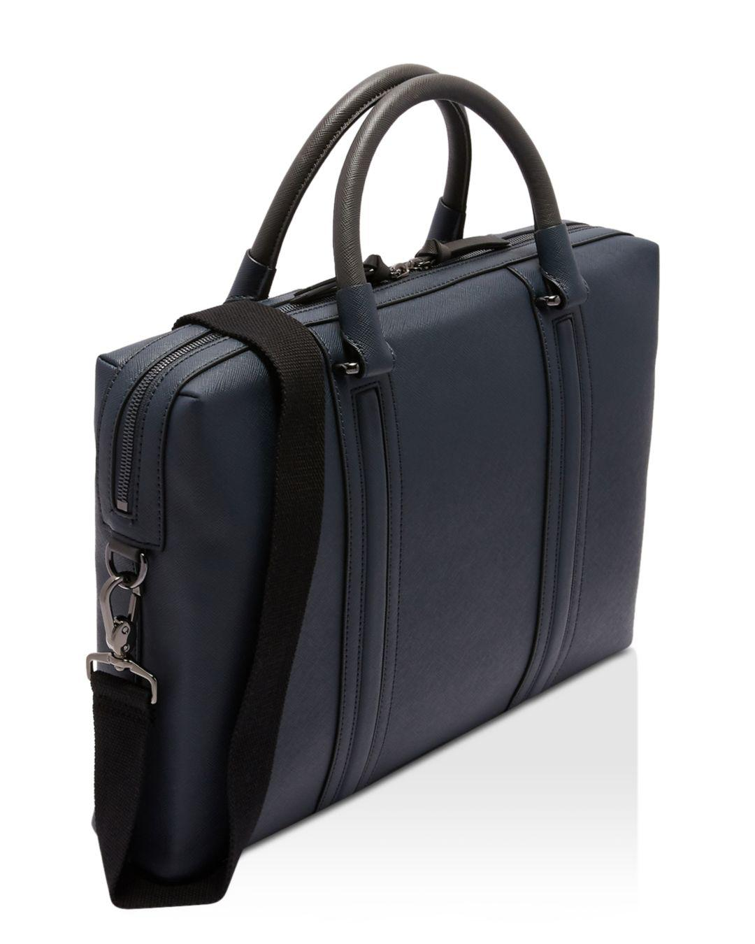ff93c4023f Lyst - Ted Baker Crossgrain Document Bag in Blue for Men