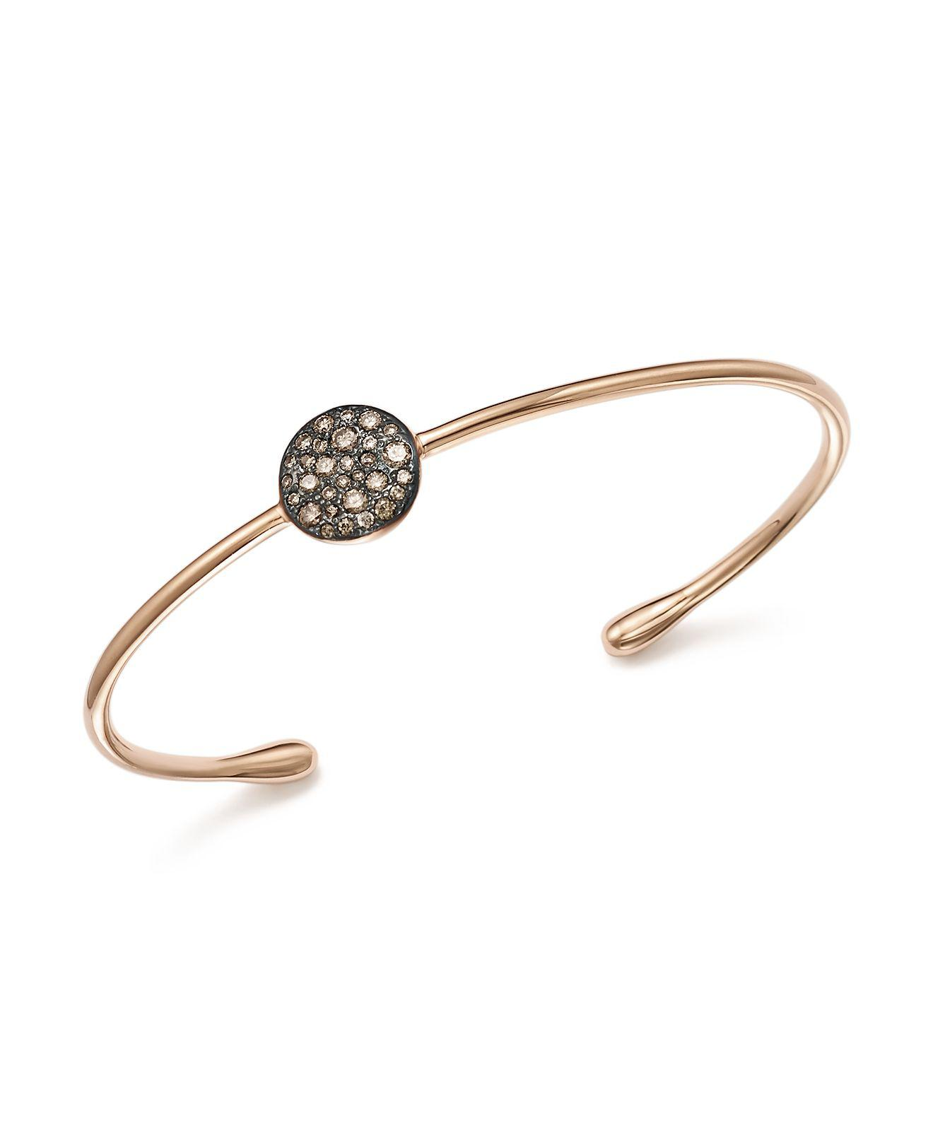 POMELLATO 18k Rose Gold Sabbia Diamond Bracelet