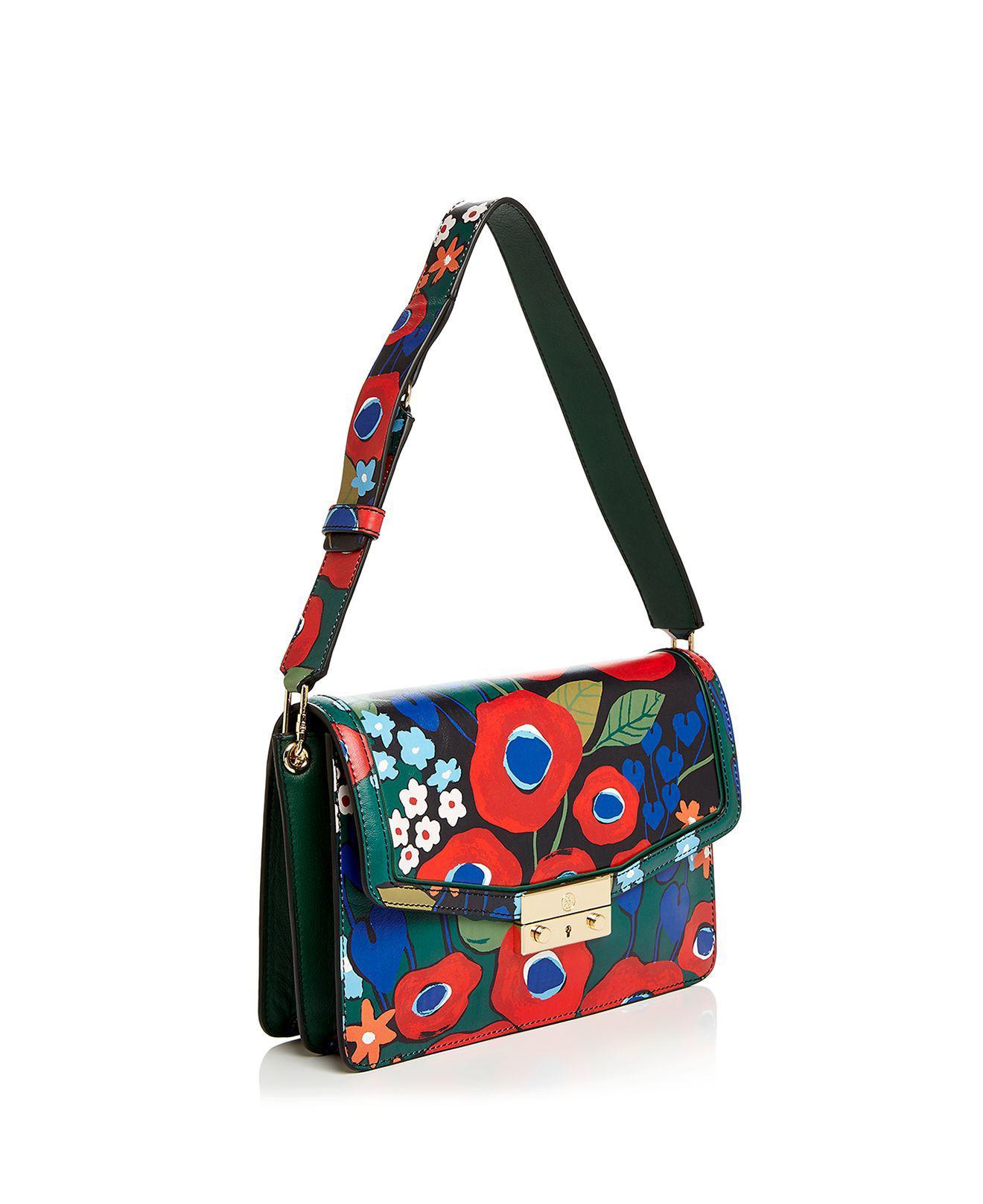 9edc7a5ec74 Lyst - Tory Burch Juliette Printed Leather Shoulder Bag