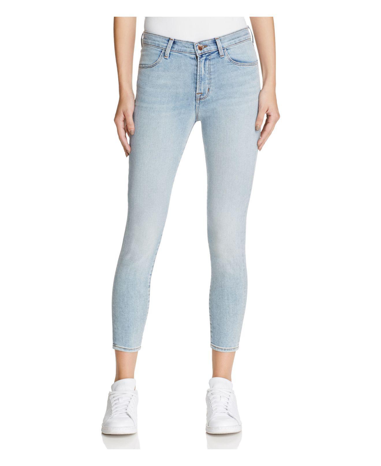e143dcdf74e1 J Brand Alana High Rise Crop Jeans In Deserted in Blue - Lyst