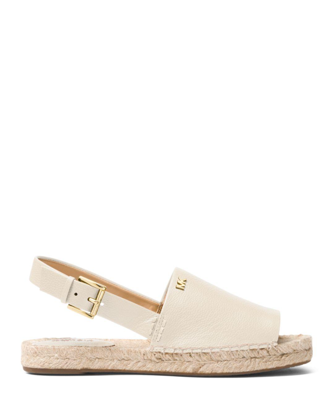 71a526e4a MICHAEL Michael Kors Women's Fisher Leather Espadrille Sandals in Natural -  Lyst