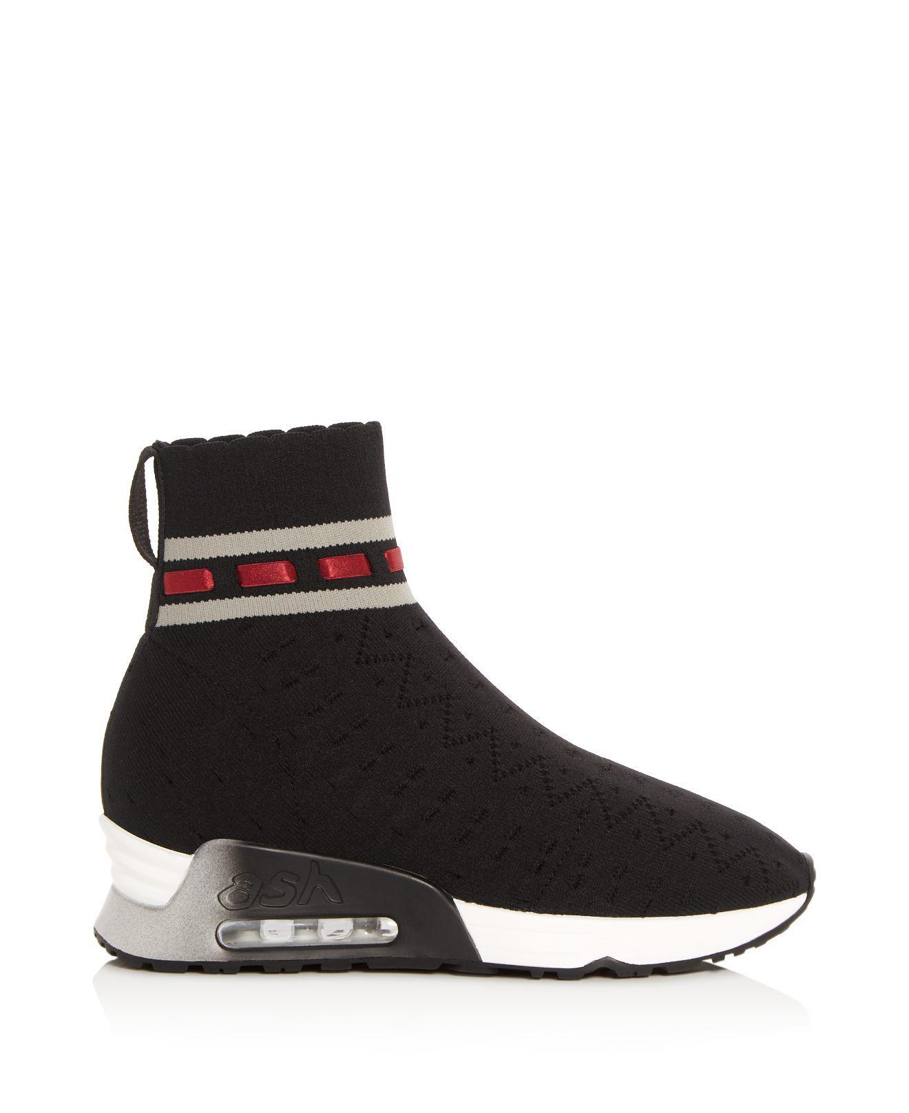 Ash Women's Link Knit High Top Wedge Sneaker AlXjJ