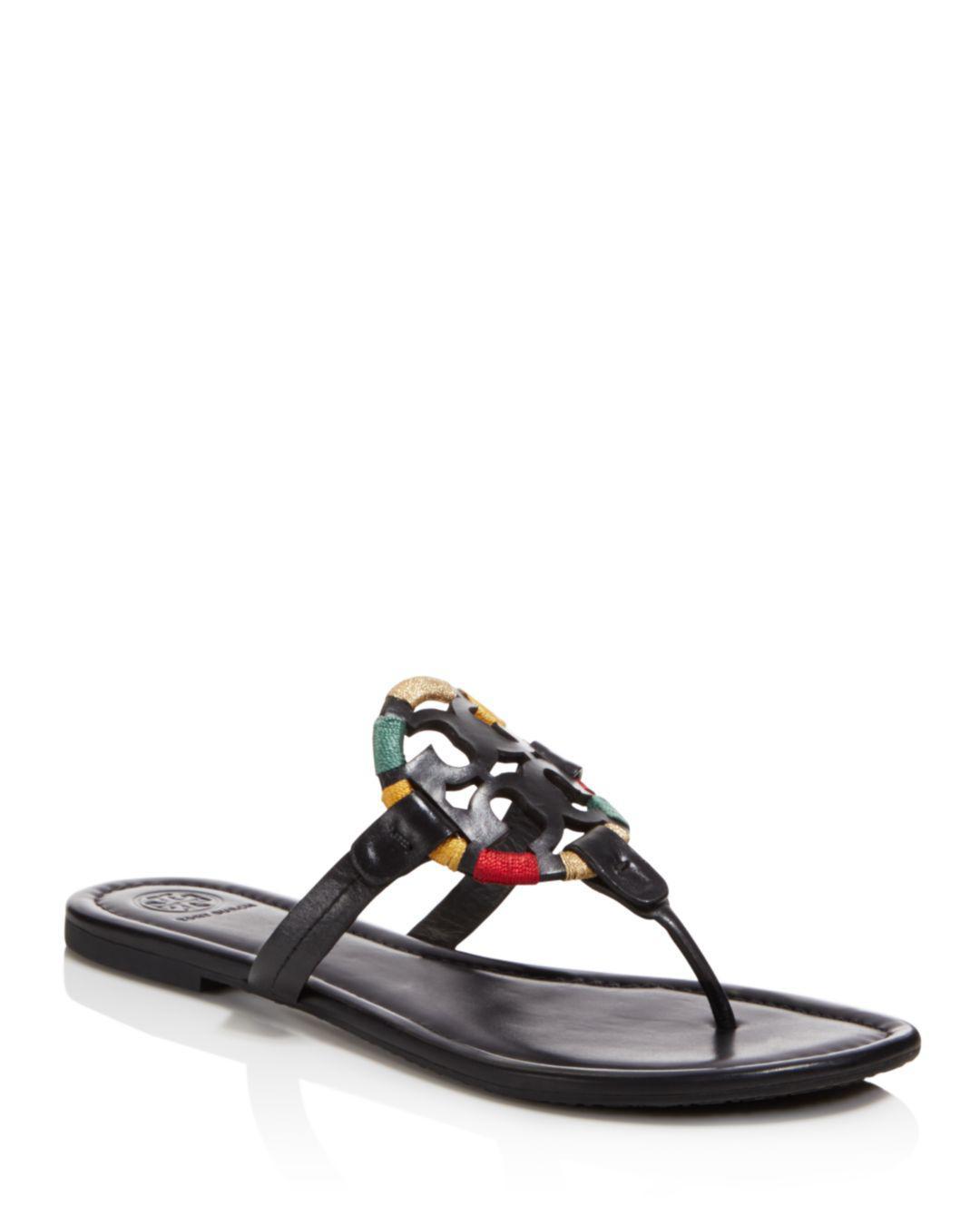 26b1769cf122 Lyst - Tory Burch Women s Miller Leather Sandals