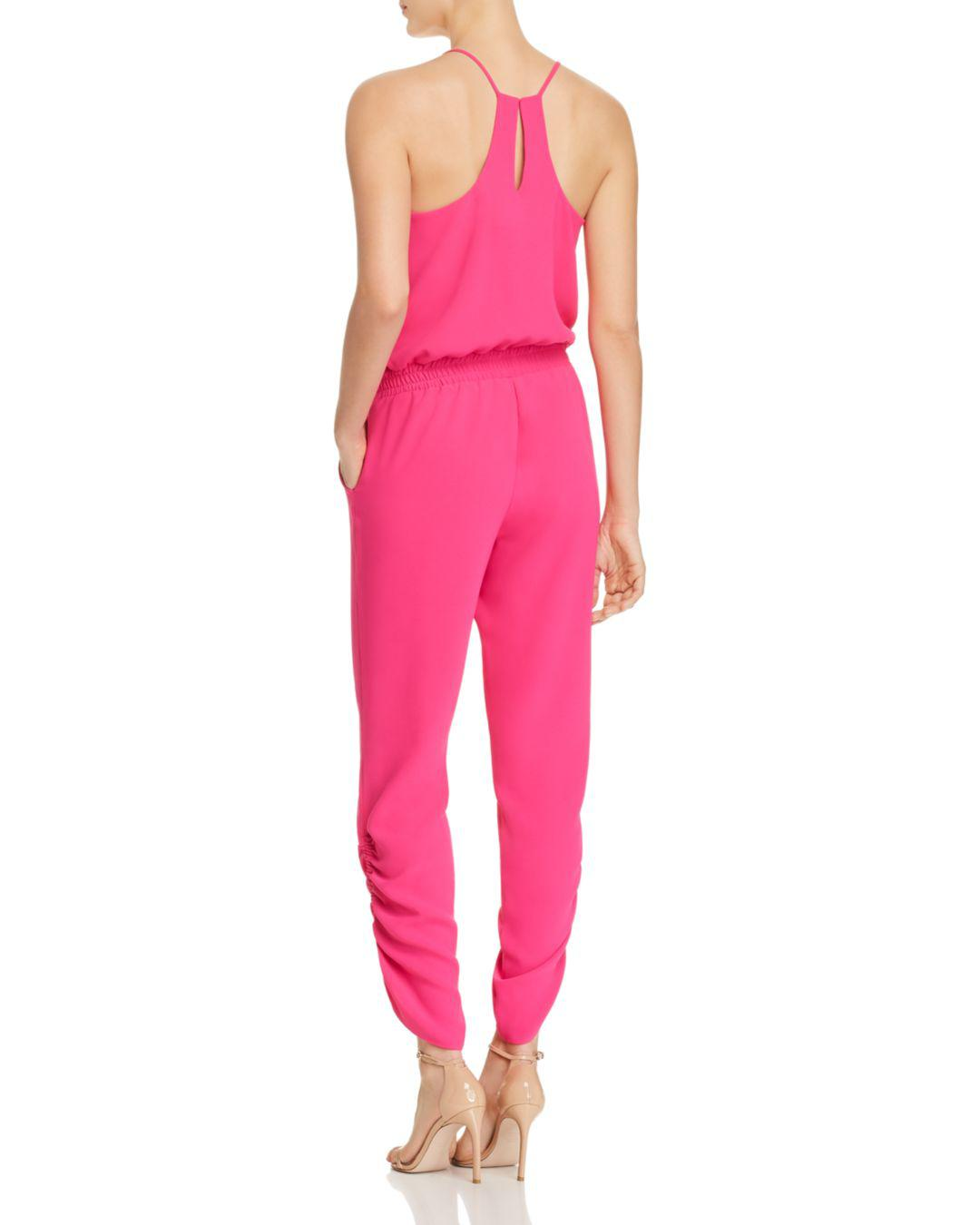 8a9adc4a975 Lyst - Amanda Uprichard Lowell Ruched Jumpsuit in Pink