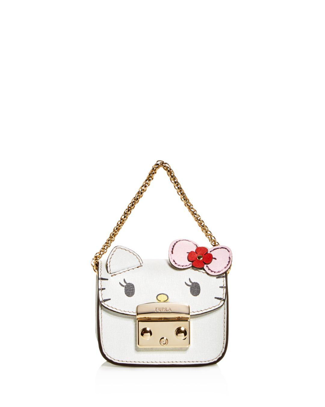 4b673ba64 Furla Hello Kitty Embossed Leather Mini Cosmetics Case - Lyst