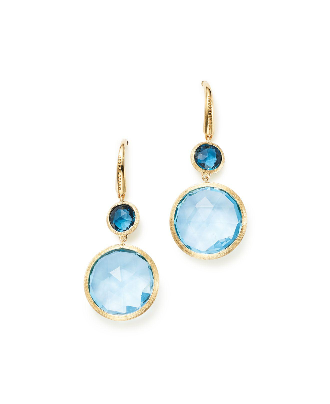 Marco Bicego Jaipur 18K Gold Mixed Semiprecious Stone Drop Earrings
