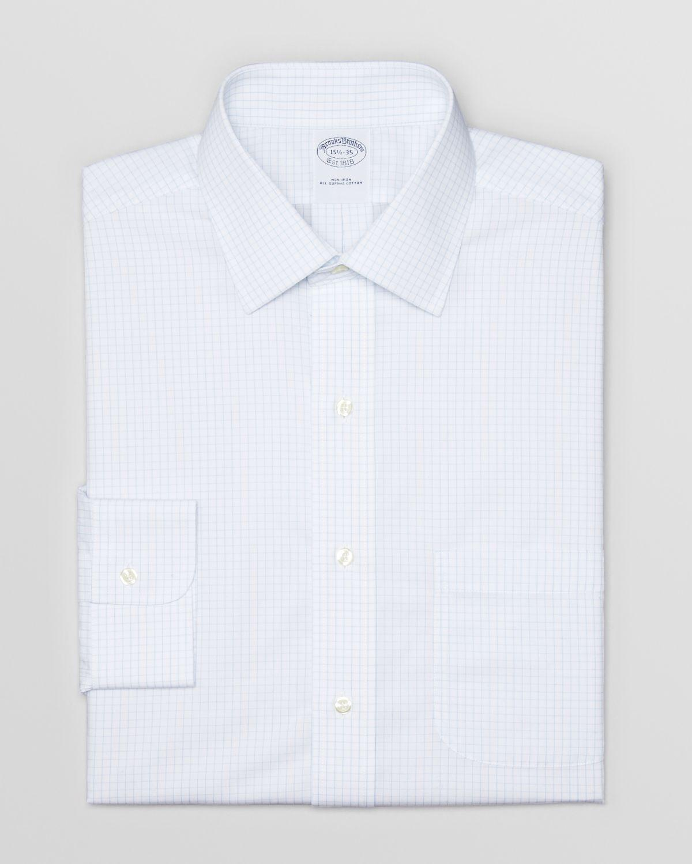 Brooks Brothers Box Check Non Iron Dress Shirt Regent