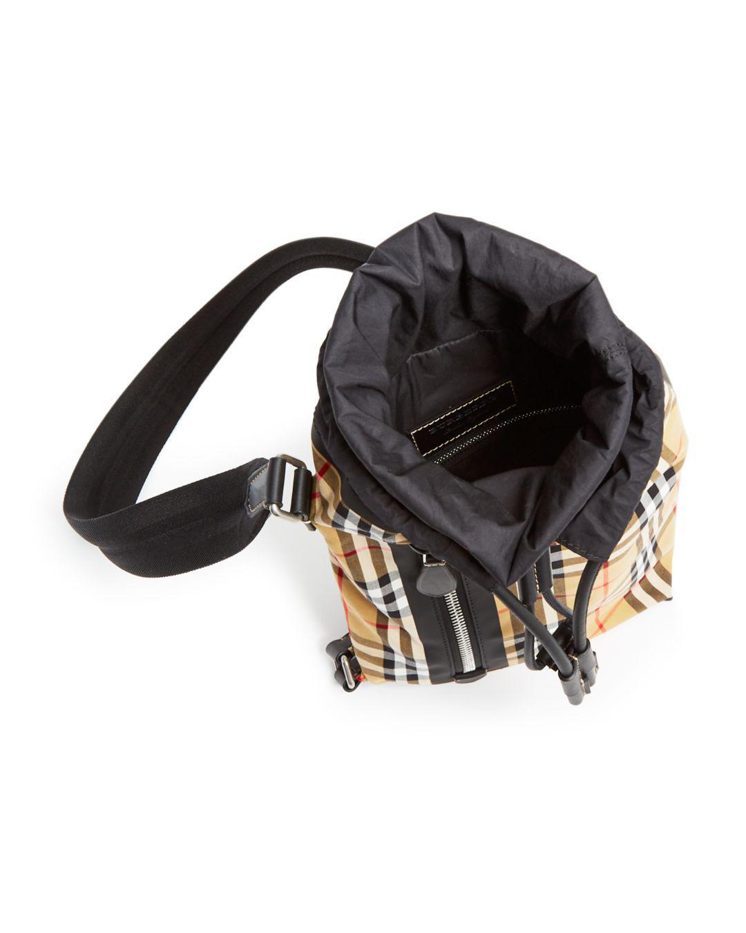 3ca6b9259da2 Burberry - Black Small Vintage Check Duffel Bag - Lyst. View fullscreen