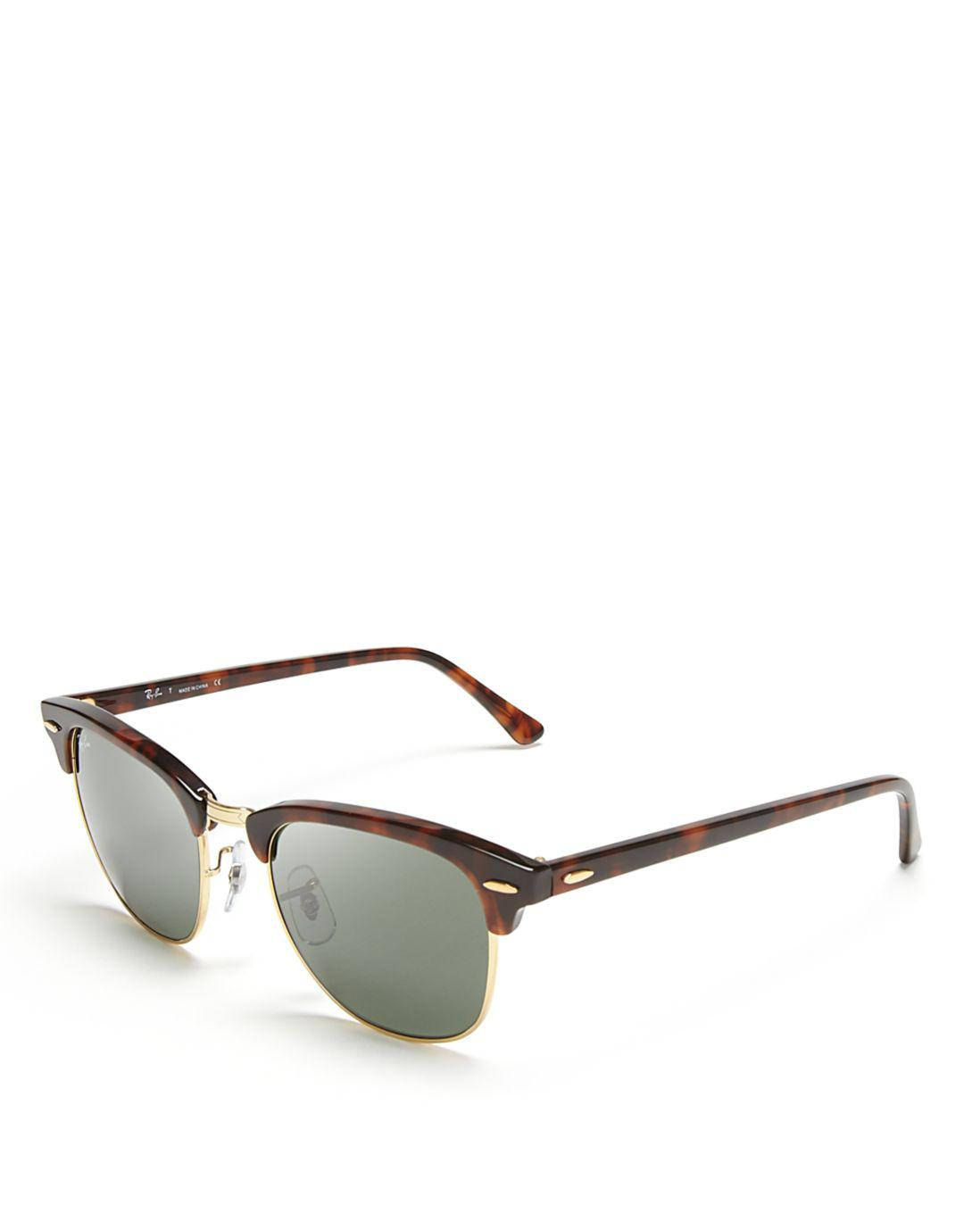 15d36640be Lyst - Ray-Ban Classic Clubmaster Sunglasses in Black - Save 2%