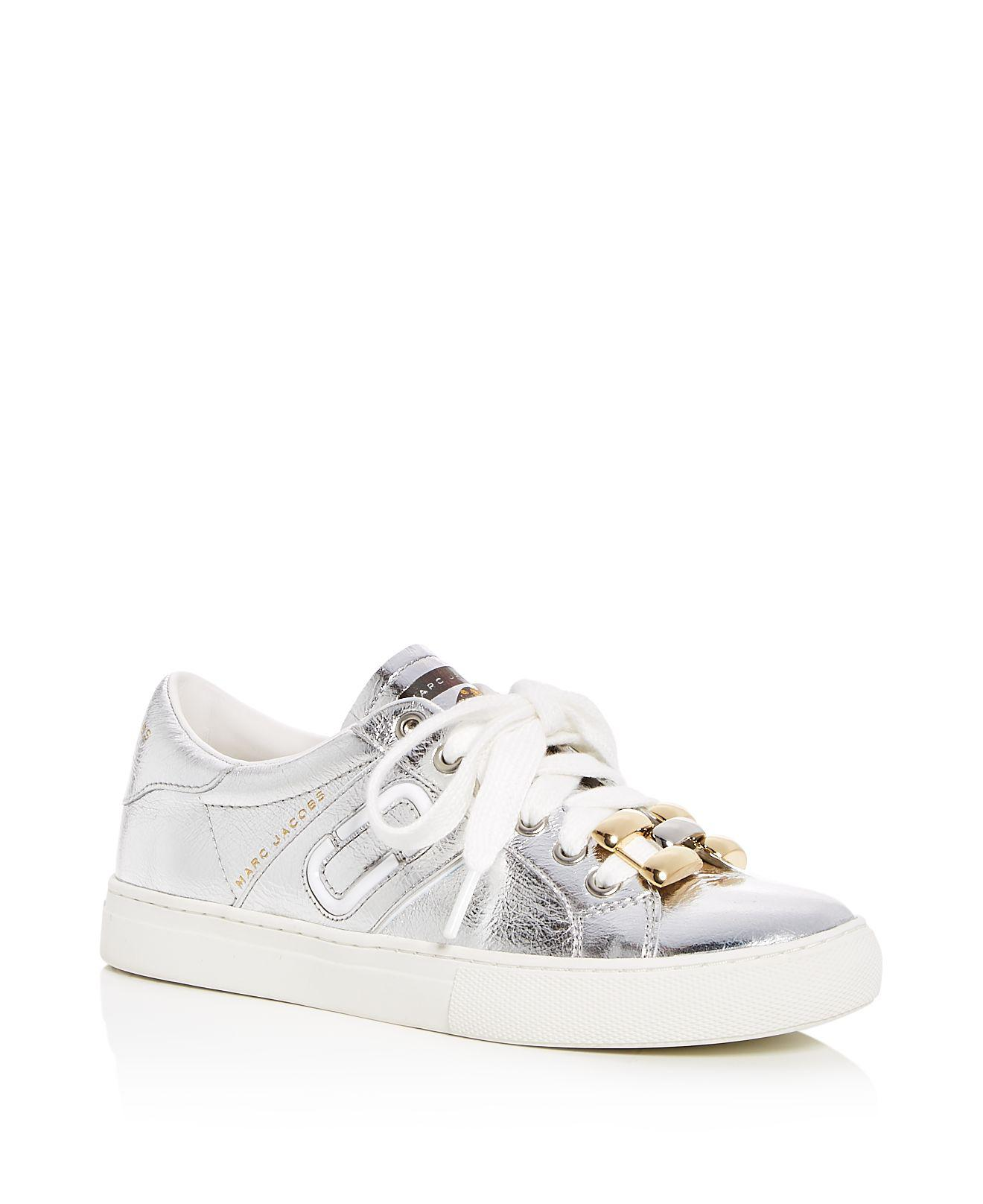 Marc Jacobs Women's Empire Love Embellished Leather Lace Up Sneakers Outlet Websites Clearance For Sale Free Shipping Cheapest Browse Cheap Price gHe28