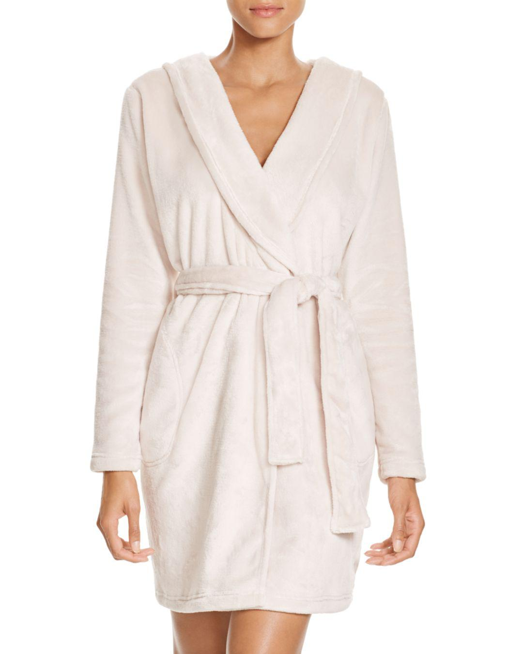 Lyst - UGG Australia Miranda Double Face Fleece Hooded Robe in Natural f68292718
