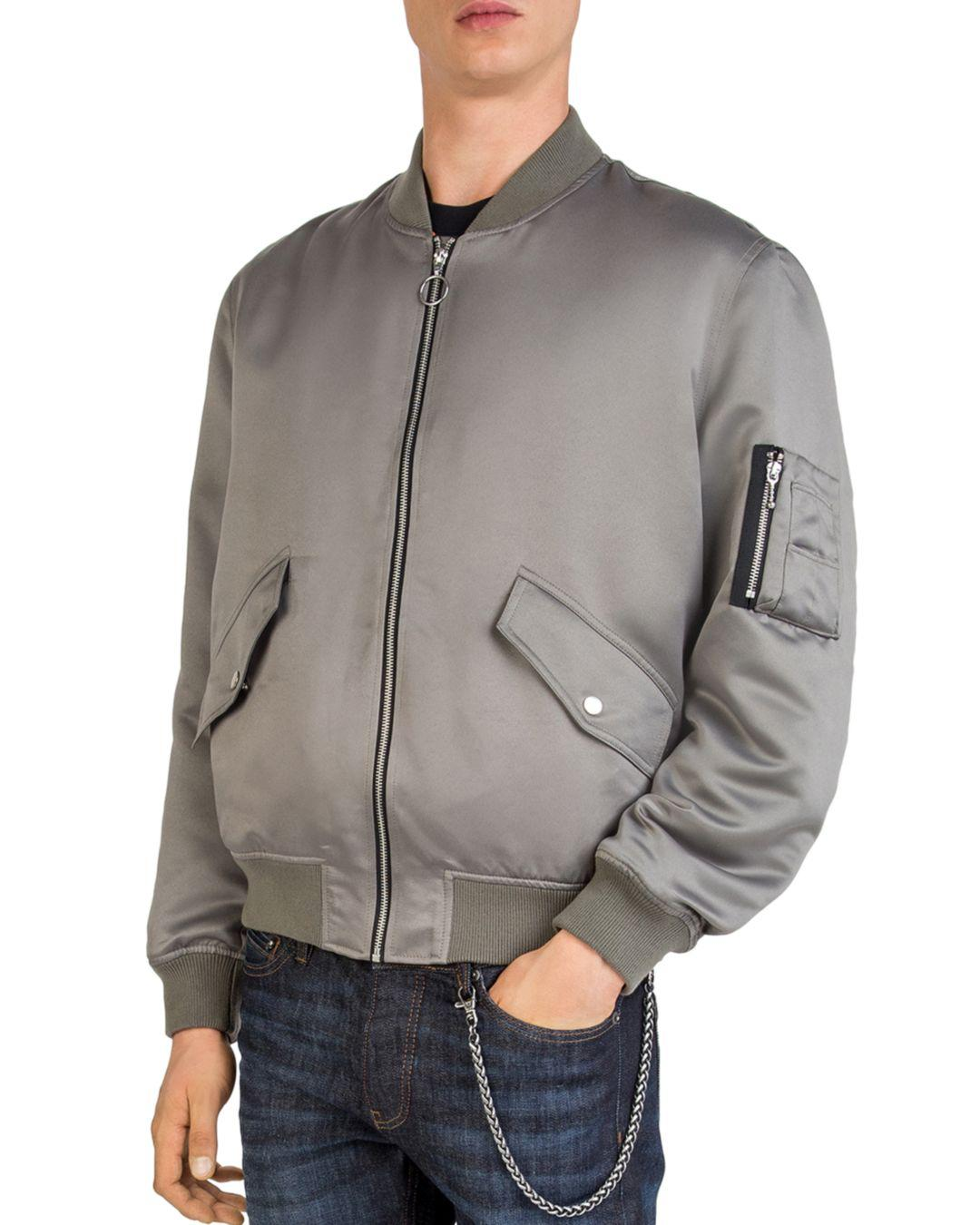 2a5d5e4bfdca9a The Kooples The Monster Blouson Bomber Jacket in Gray for Men - Lyst