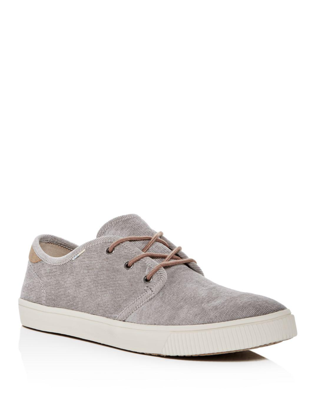 1426f61e1f Lyst - TOMS Cement Micro Corduroy Men s Carlo Sneakers Topanga ...