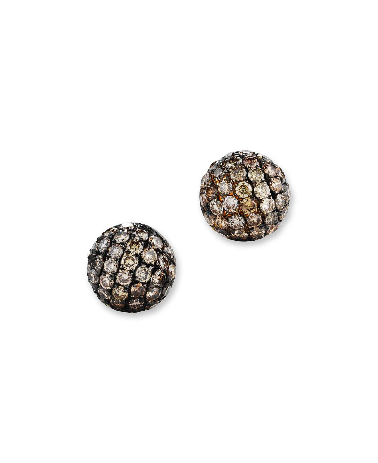 gold natural stud diamond diamonds ct htm p brown earrings black r with rose
