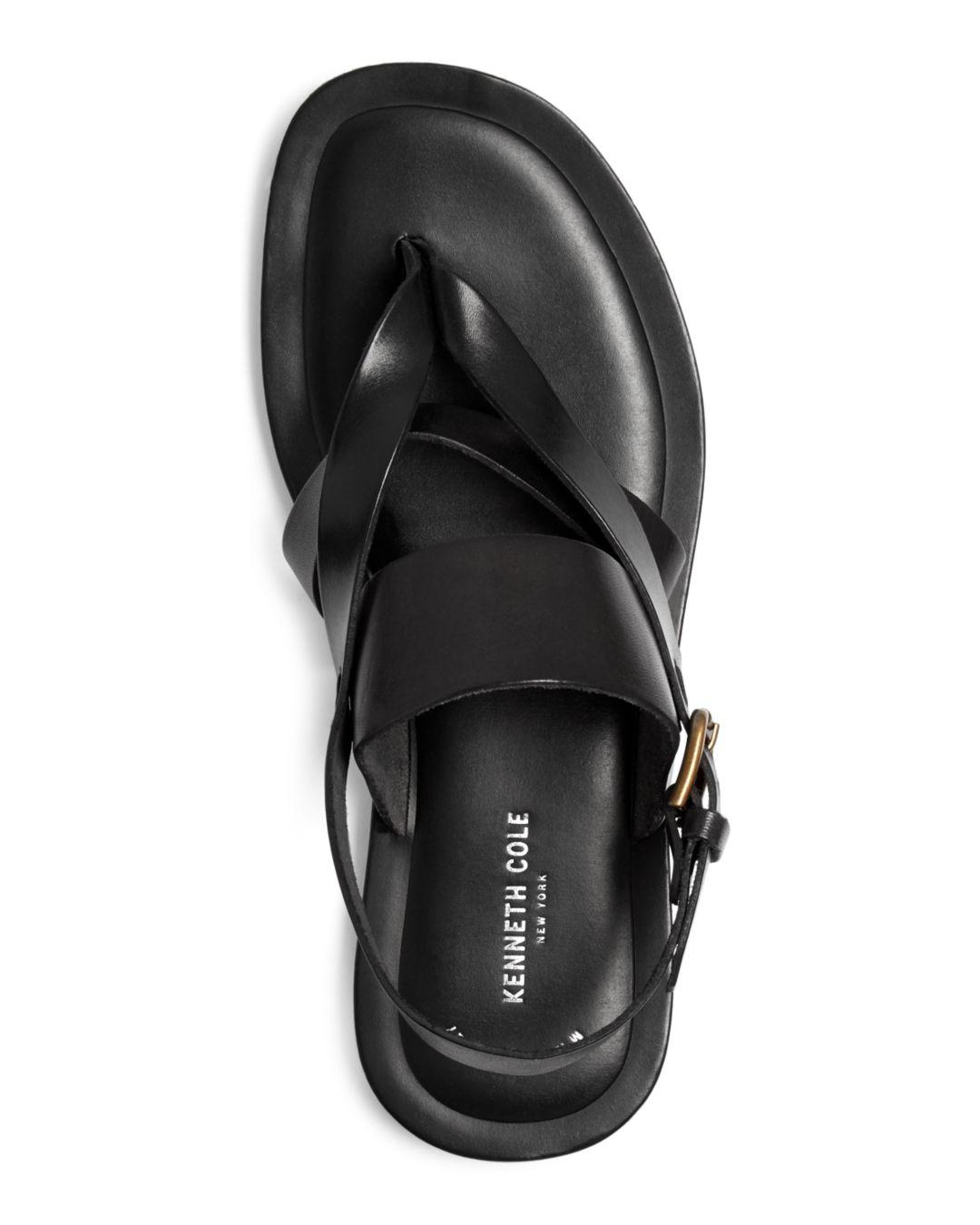 3cd88e961d57 Lyst - Kenneth Cole Men s Reel-ist Leather Thong Sandals in Black for Men