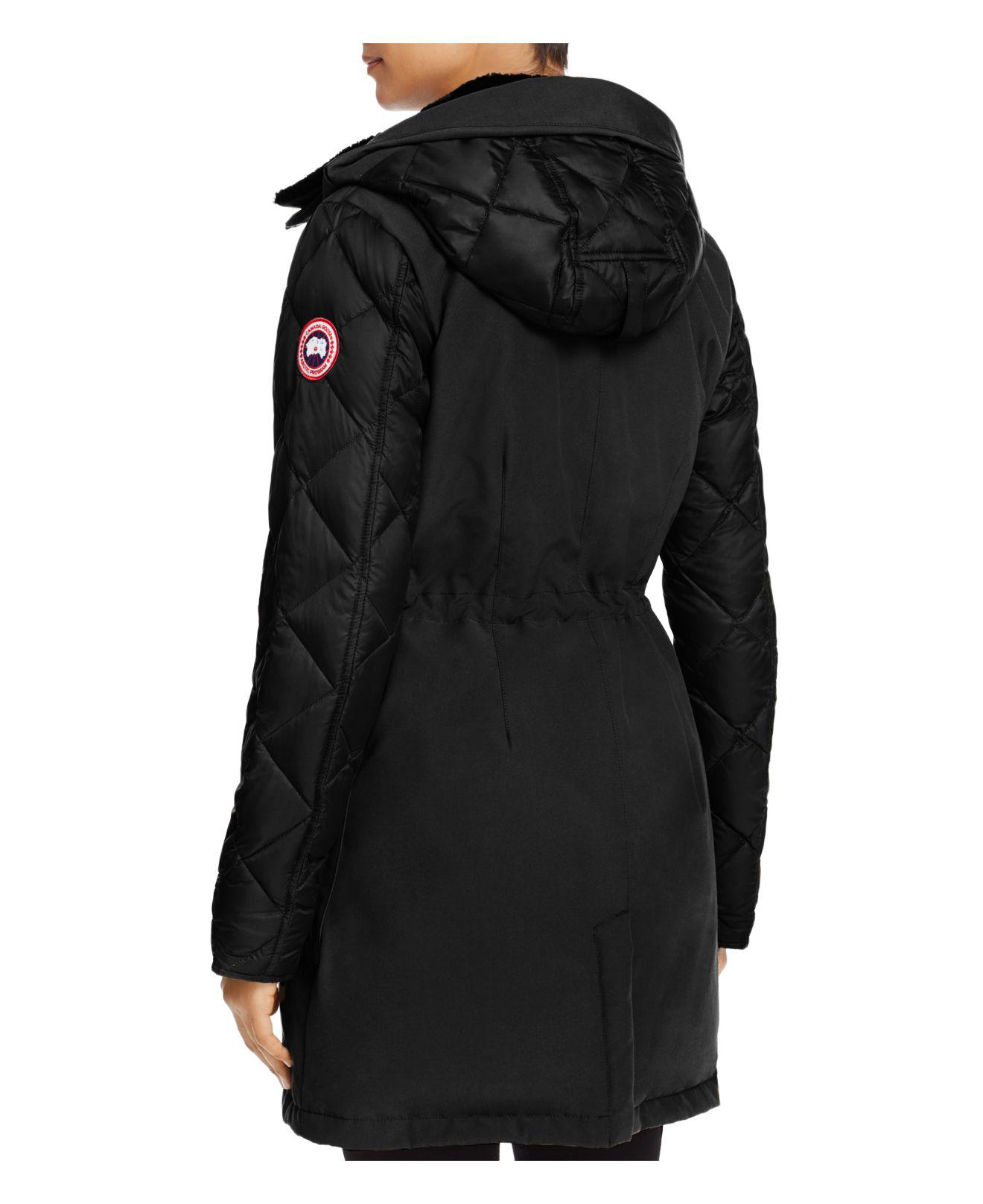 ... Canada goose Elwin Shearling Trim Down Parka in Black Lyst ...