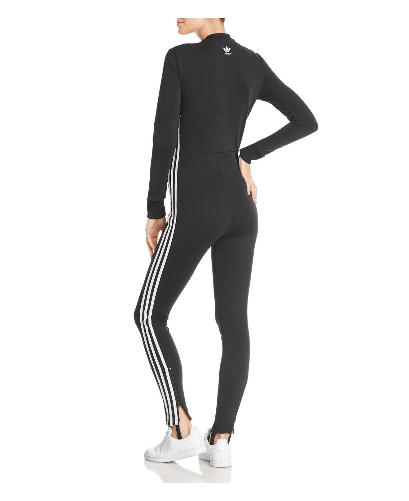 136344ae7251 Lyst - adidas Originals Adicolor Jumpsuit in Black