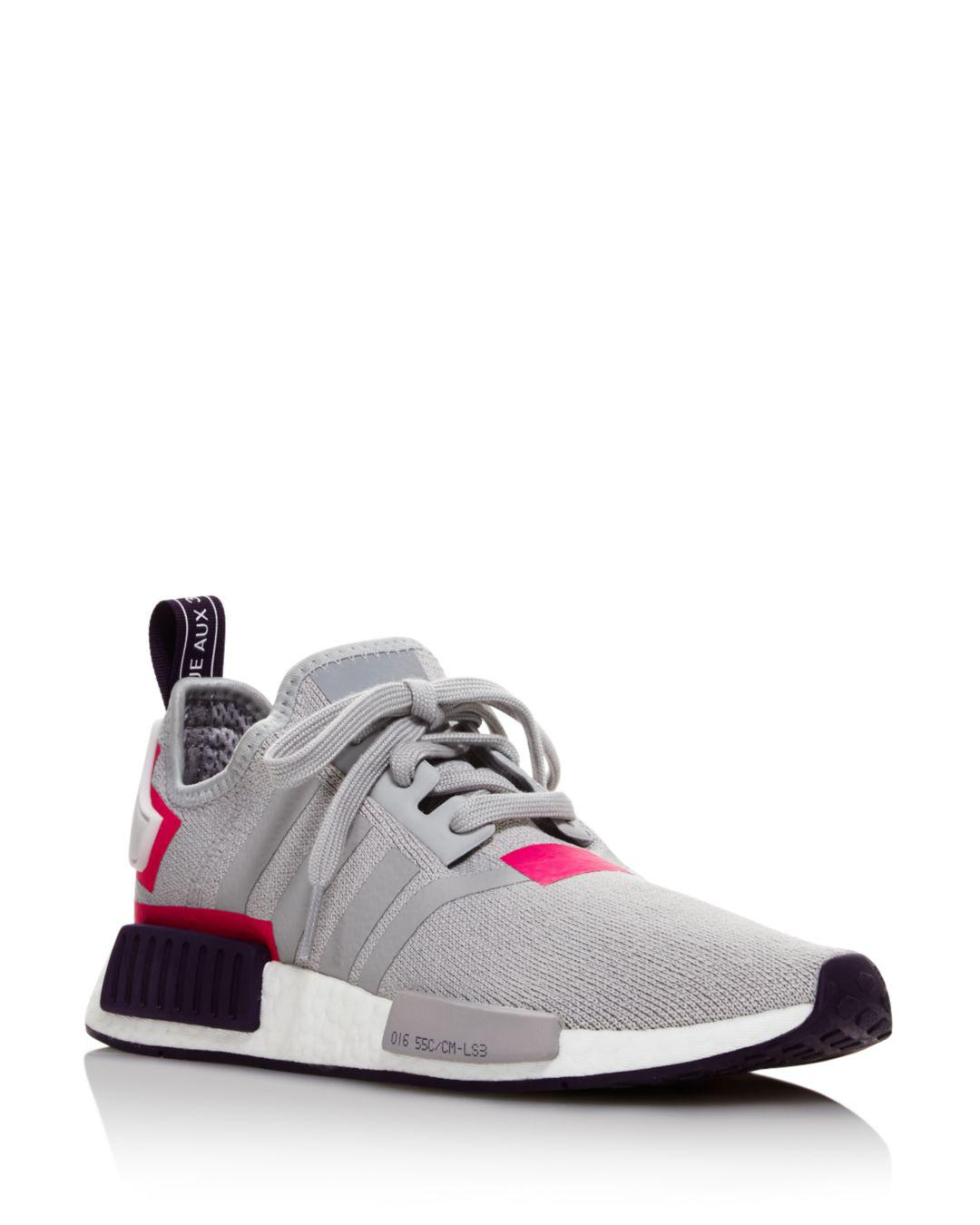 562d21ef4e09 adidas Women s Nmd R1 Knit Lace Up Sneakers - Lyst