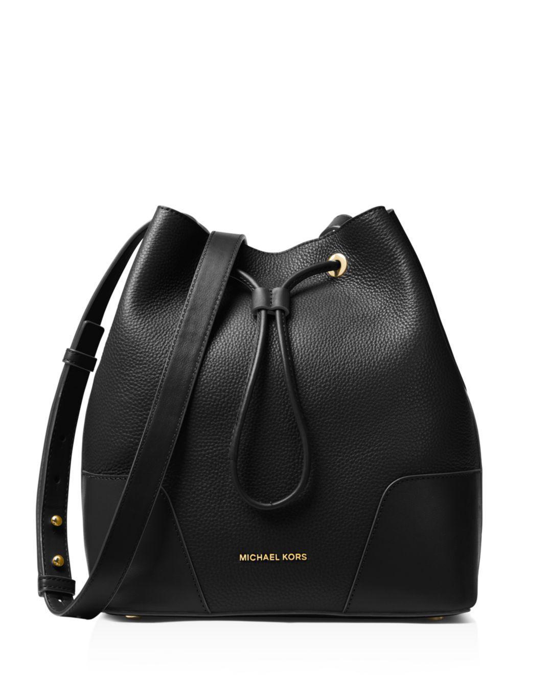 213487ebb0fa16 Michael Kors - Black Cary Medium Pebbled Leather Bucket Bag - Lyst. View  fullscreen