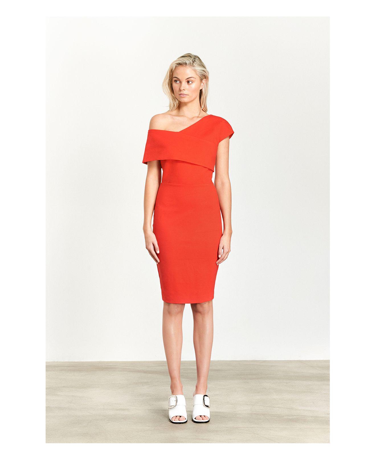 8ae72164e5915 Elliatt Emulate One-shoulder Dress in Red - Lyst