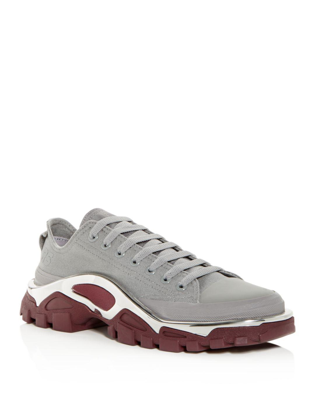 brand new 519aa c038f adidas By Raf Simons. Gray Womens Rs Detroit Runner Lace Up Trainers