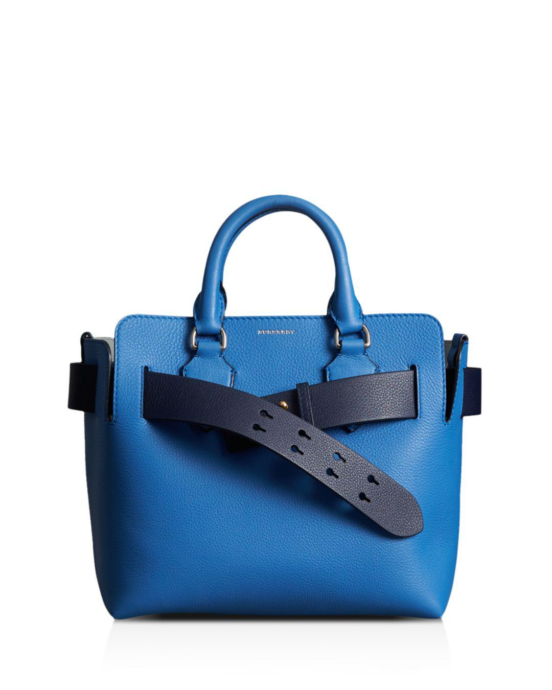 b5848f67eac3 Lyst - Burberry Small Leather Belt Bag in Blue - Save 30%