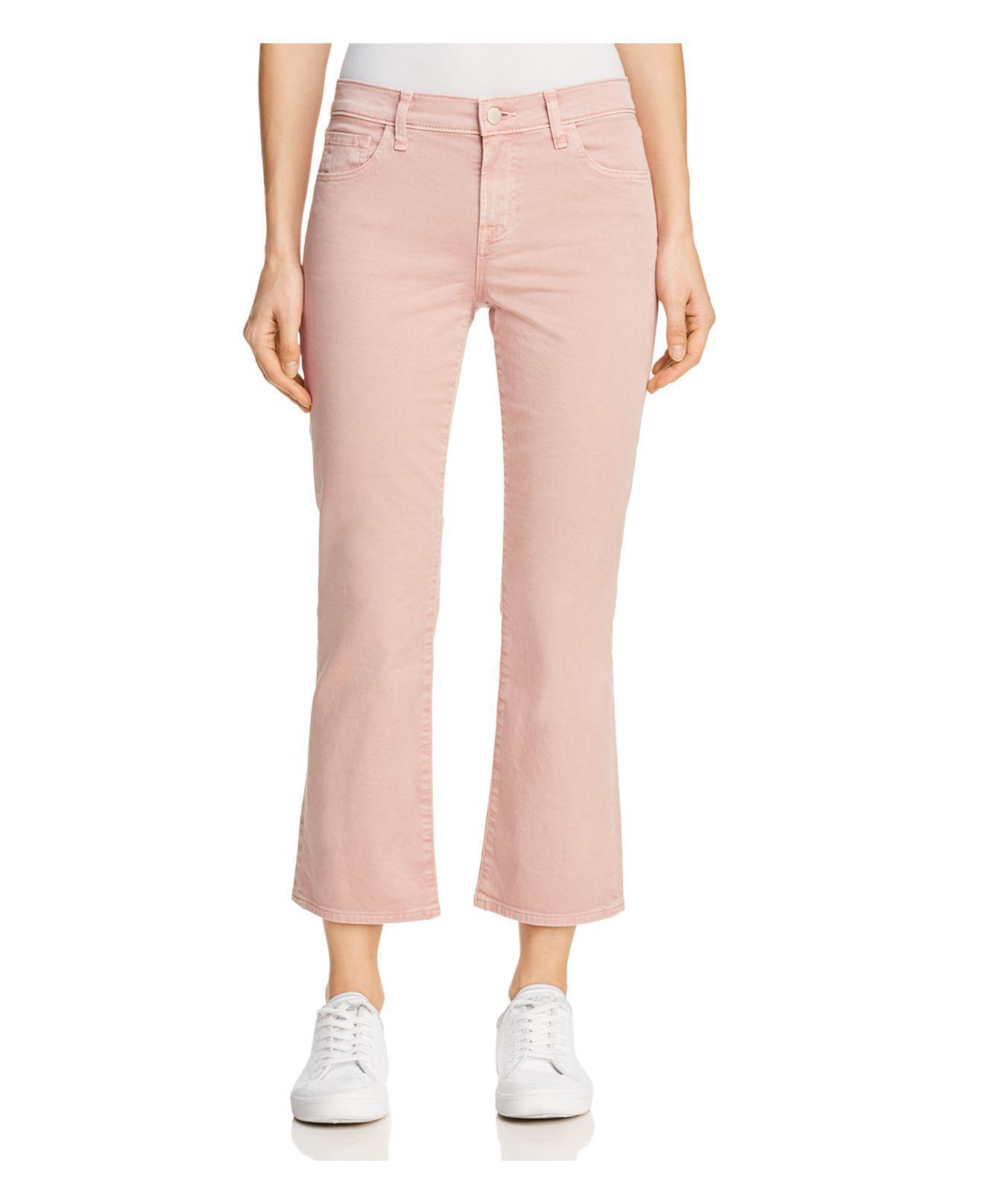 J Brand Selena Mid Rise Crop Boot Jeans in Vinca zVsQKCYCn
