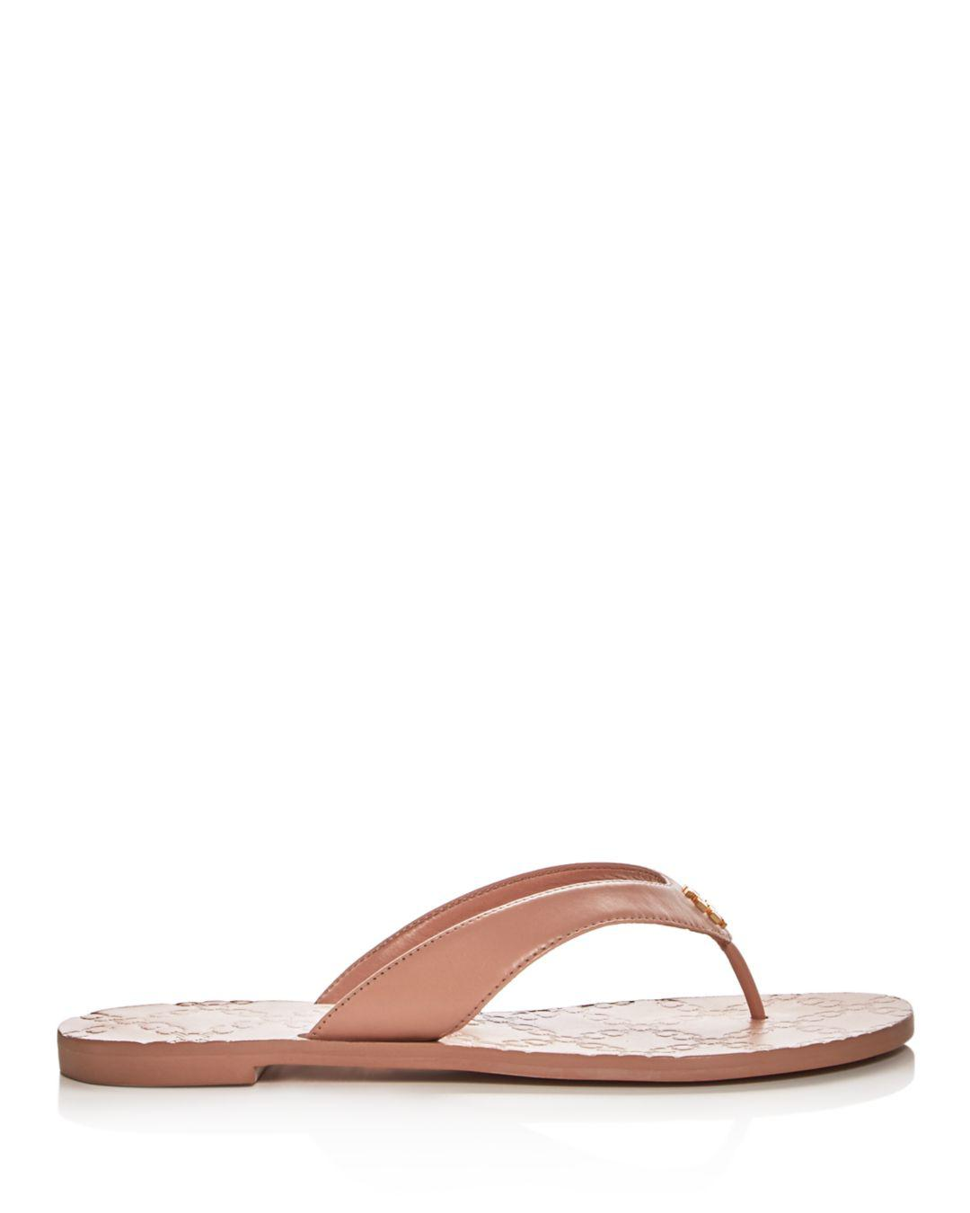 871860bad45a Lyst - Tory Burch Women s Monroe Leather Thong Sandals