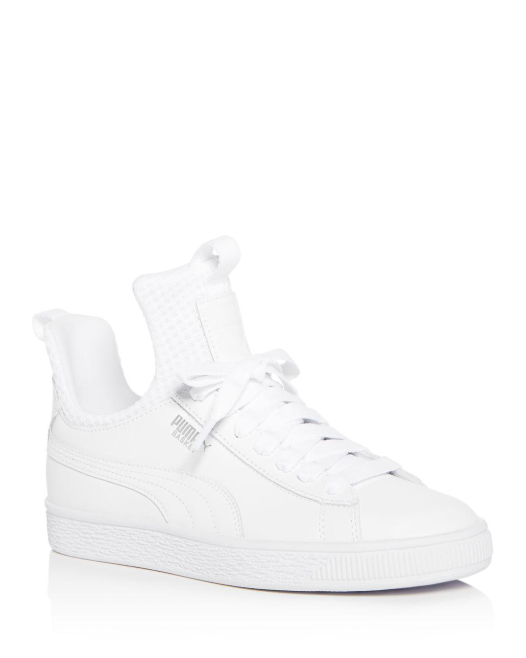 88df2a39bff0 Lyst - PUMA Women s Basket Fierce En Point Leather Lace Up Sneakers ...