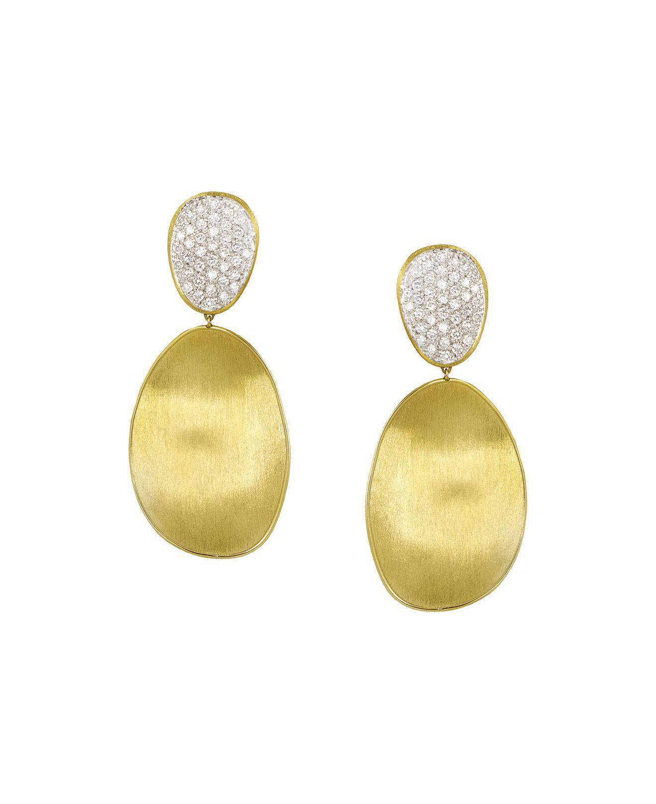 Marco Bicego Large Diamond Lunaria 18k Gold Double-Drop Earrings hpOEBh4GgS