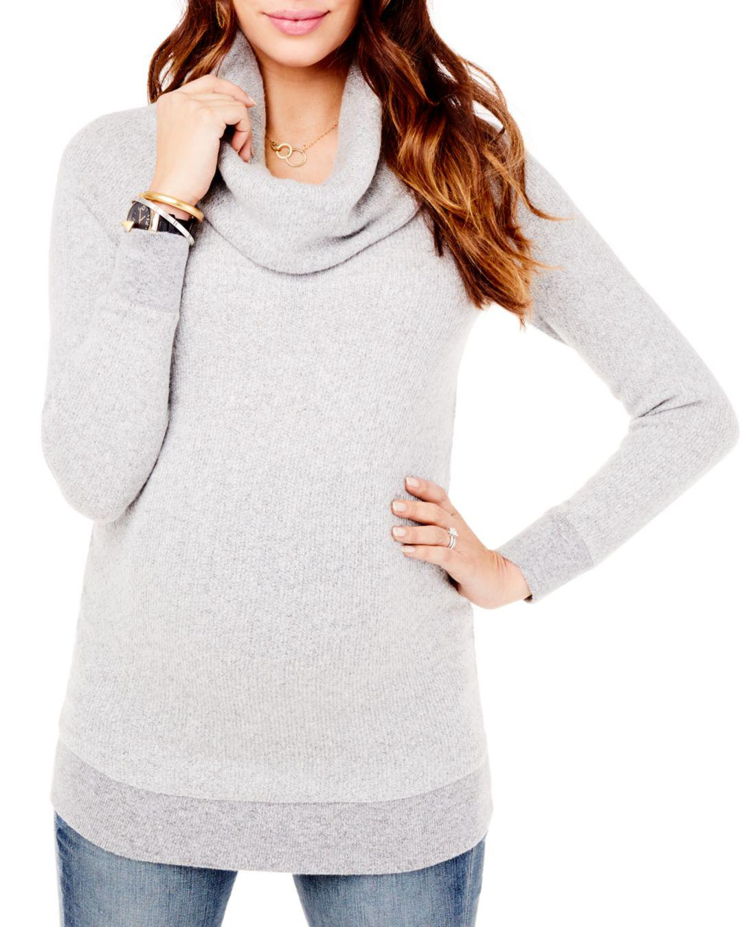 043e84d0f6abf Lyst - Ingrid & Isabel Maternity Cowl Neck Sweater in Gray