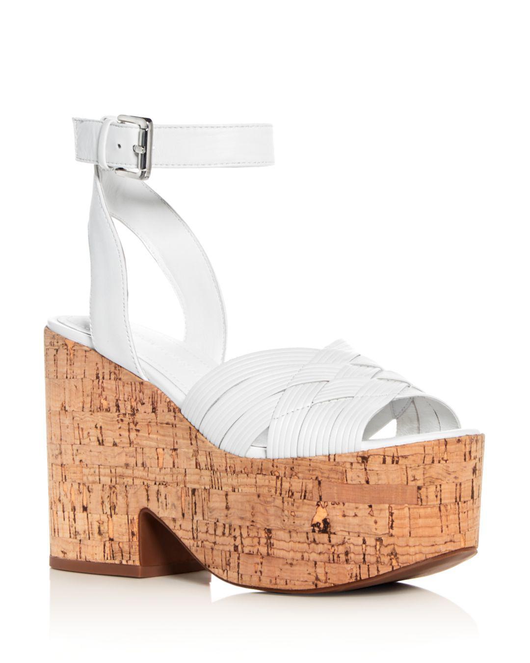 4eae8092e2c0 Sigerson Morrison. White Women s Becca Leather Platform Wedge Sandals