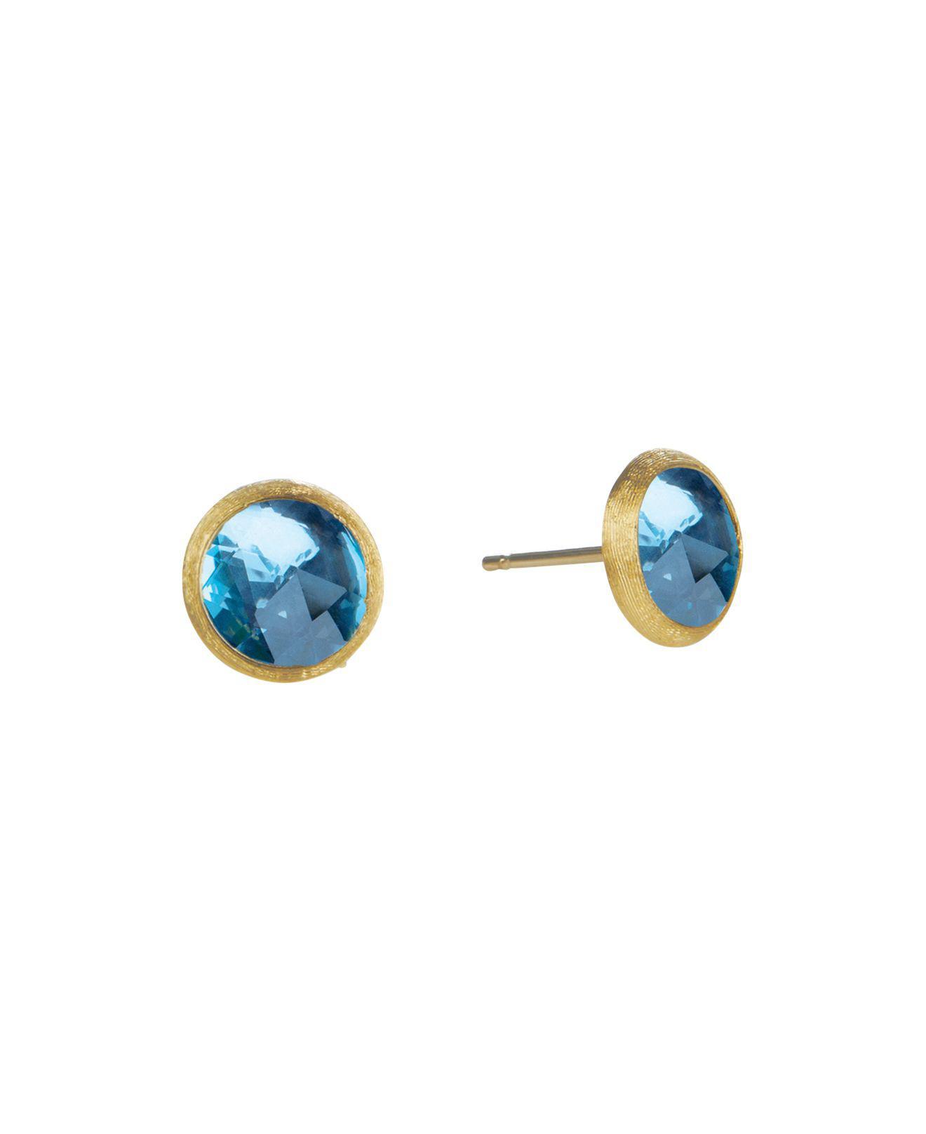 Marco Bicego Jaipur 18K Chalcedony Stud Earrings HfLtQW