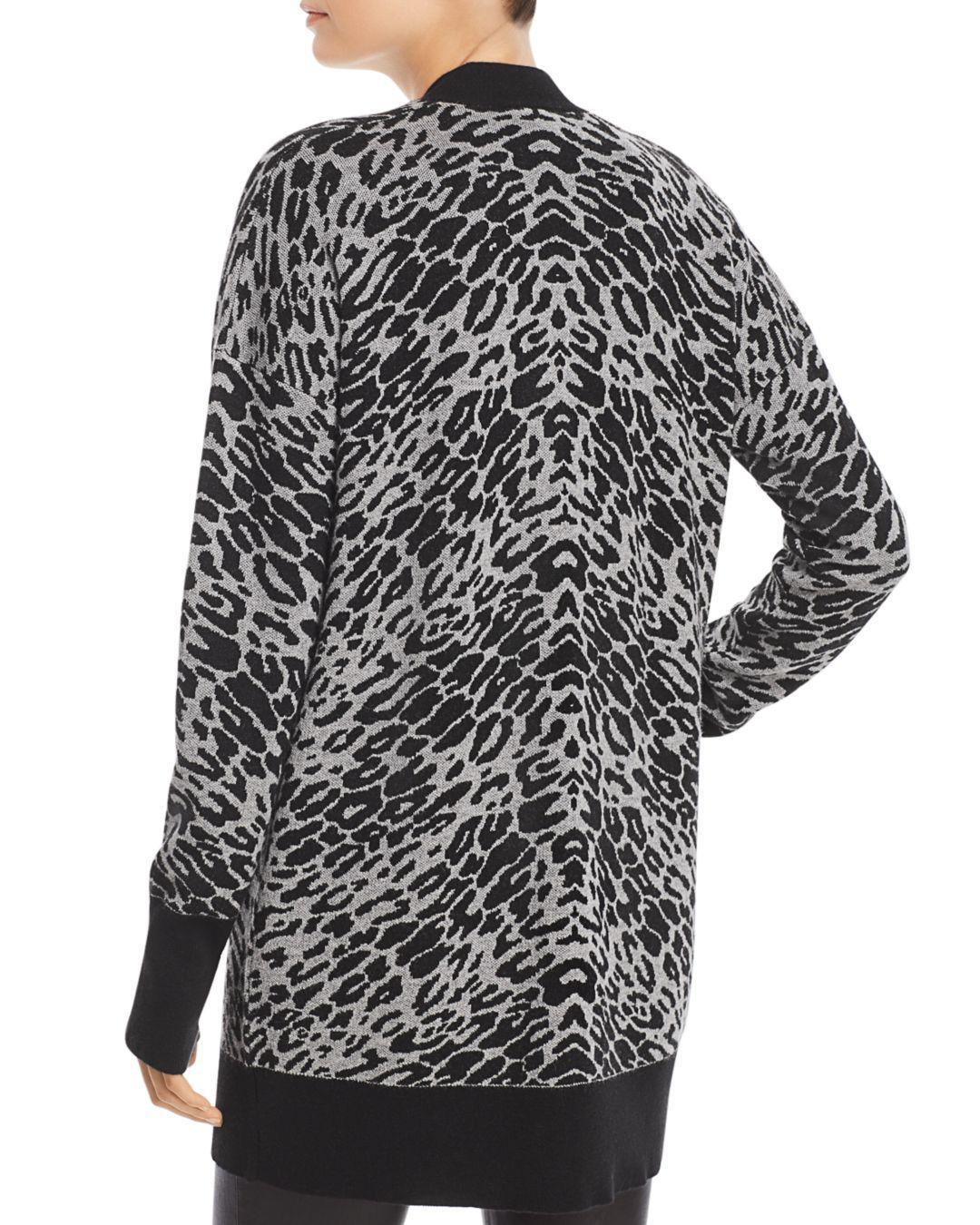 9b69732c6cd1 Equipment Fenwick Leopard-print Cardigan in Black - Save 60% - Lyst