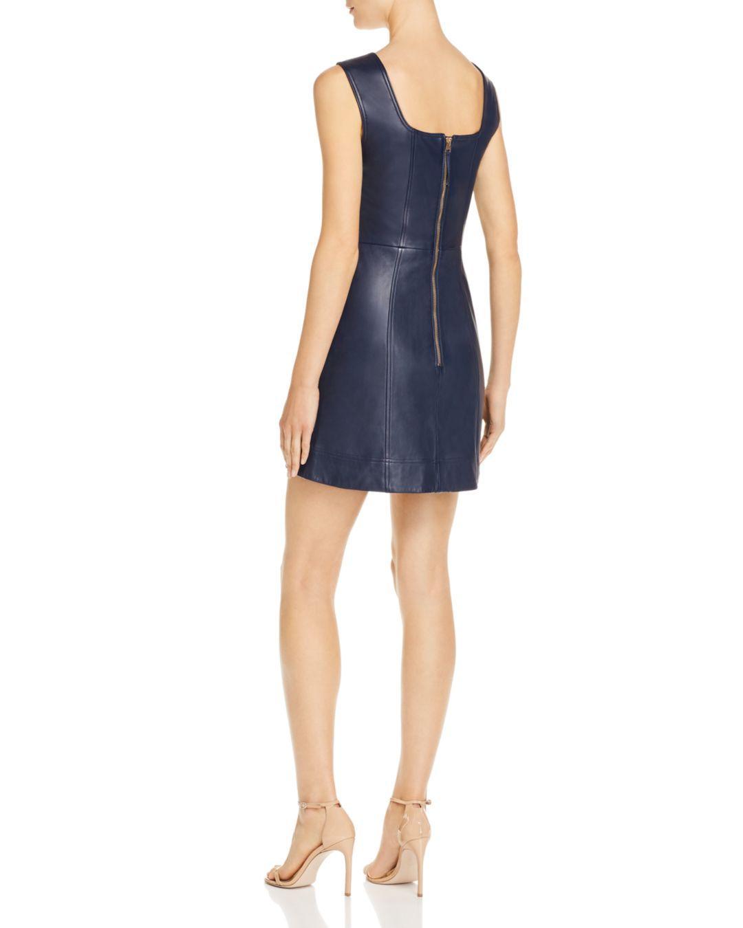 af02b7a68 Alice McCALL Sweet Street Leather Mini Dress in Blue - Lyst
