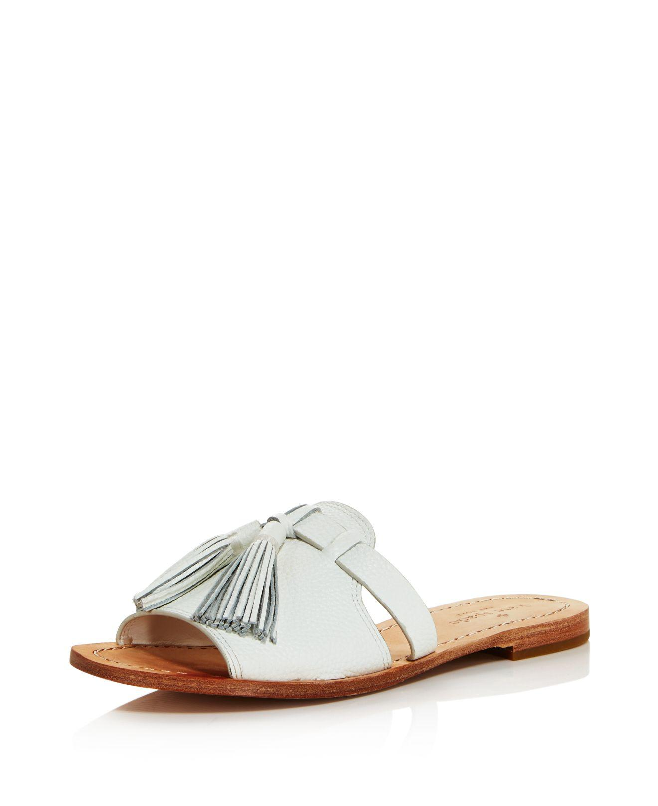 Kate Spade New York Women's Coby Metallic Leather Tassel Slide Sandals Outlet Pay With Paypal Outlet Shop For GqFhf2