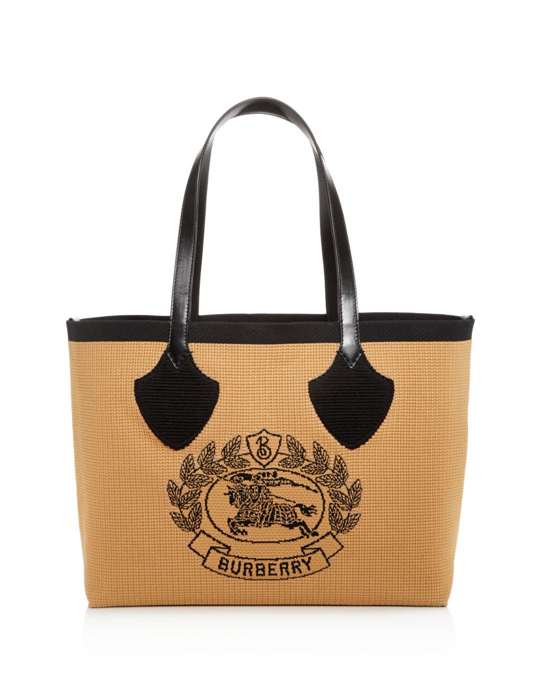 6c00fb1481be Lyst - Burberry Woven Logo Large Tote - Save 34%