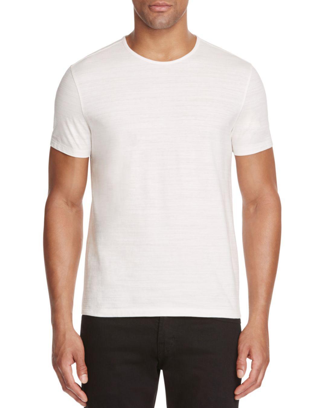 John Varvatos Pima Cotton Slub Knit Tee In White For Men Lyst