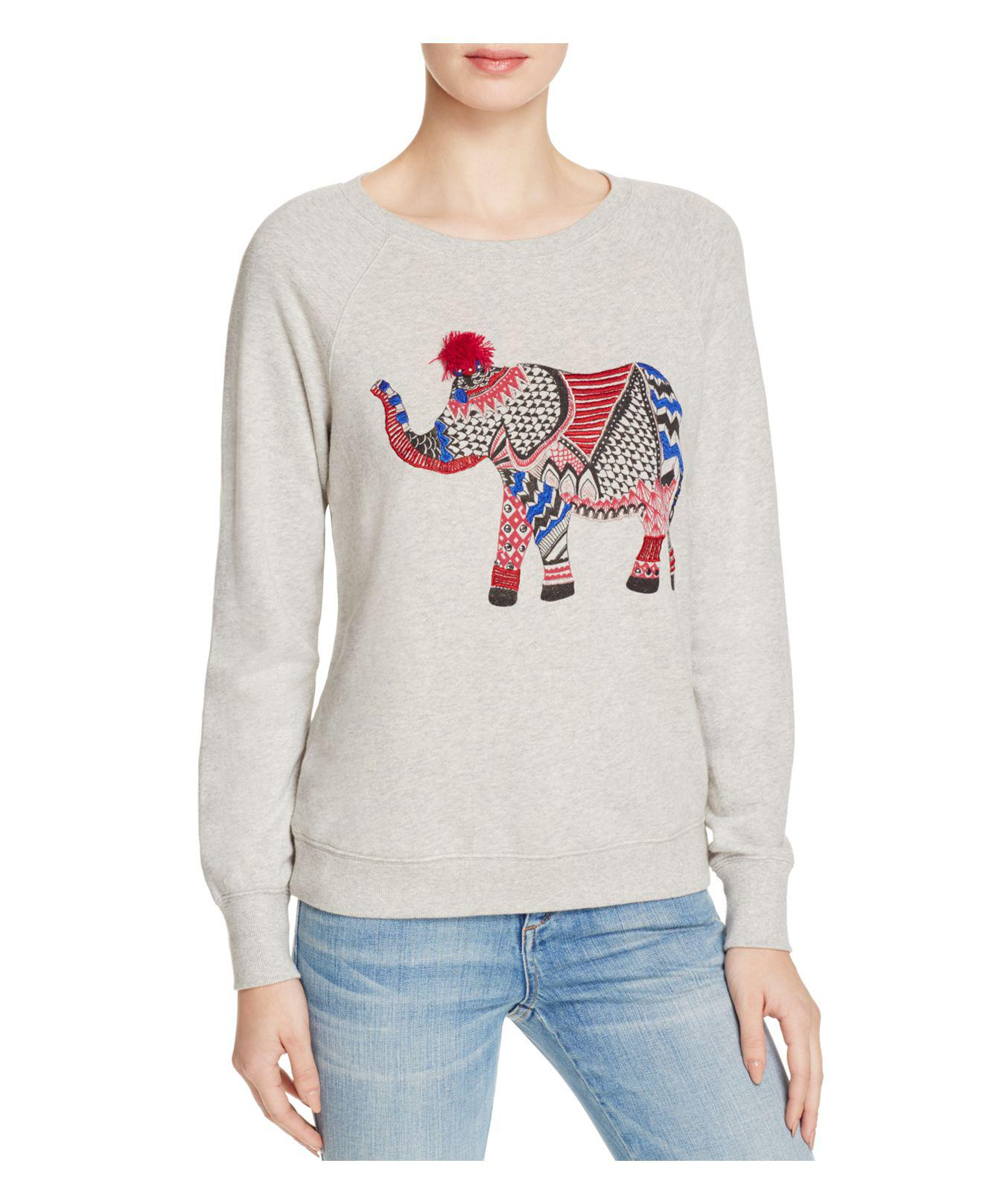 6f8cd9f86f539c Lyst - Soft Joie Annora Embroidered Sweatshirt in Gray