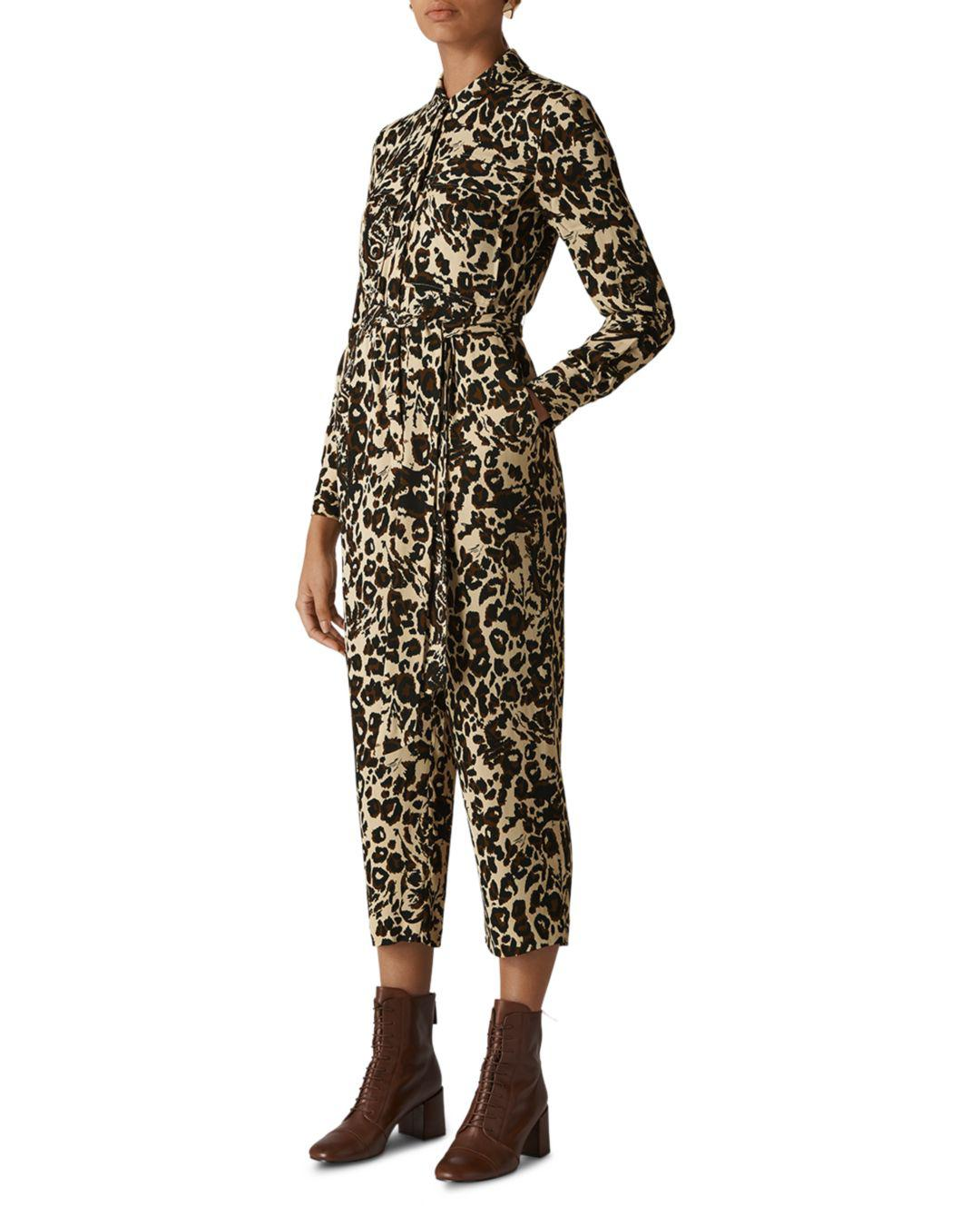 60d7fb1a2bd Whistles Jungle Cat Utility Jumpsuit - Save 31% - Lyst