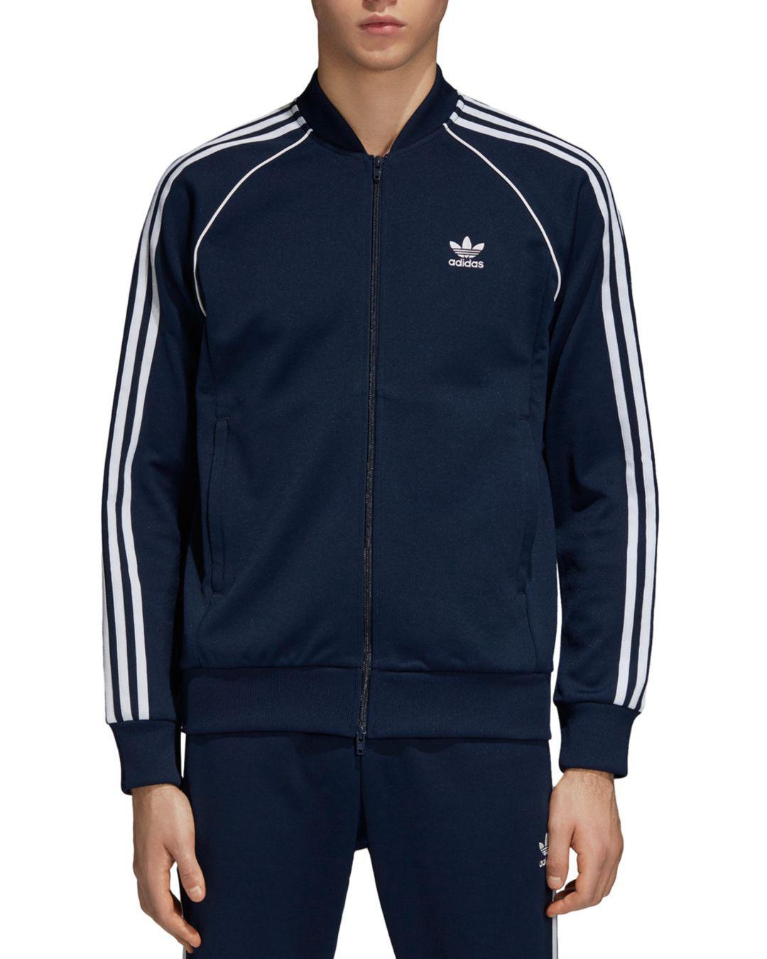 Adidas Originals Superstar Track chaqueta en azul para los hombres Lyst