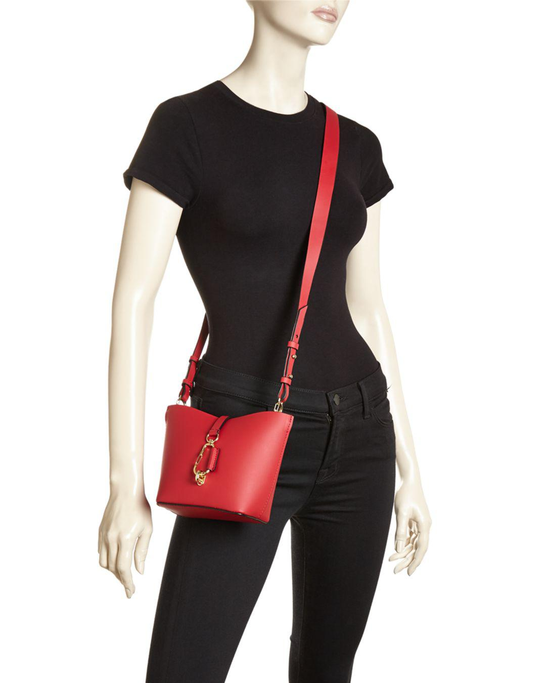 1d4ead23a826 Lyst - Zac Zac Posen Belay Mini Leather Hobo Crossbody in Red