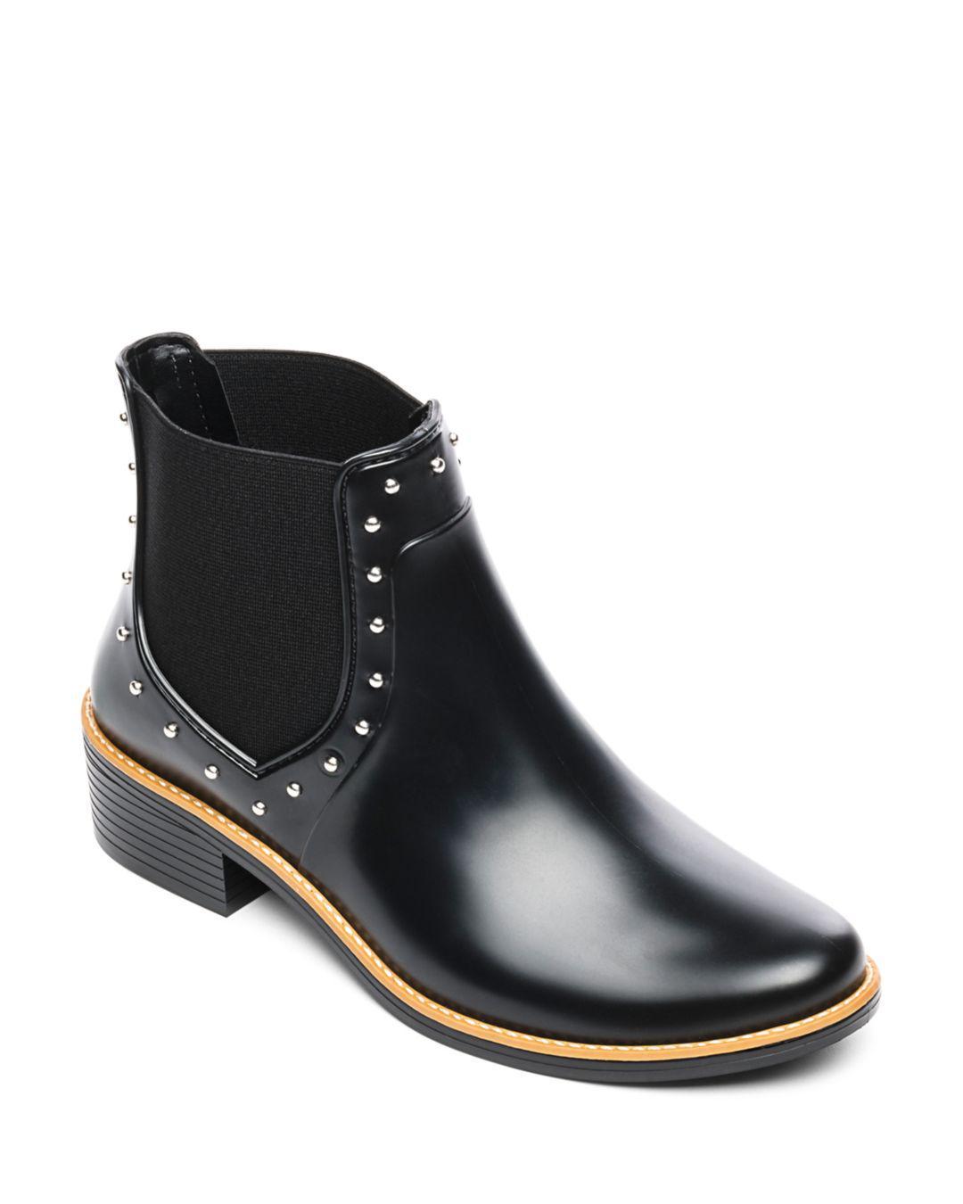 c6f25d6203f5fe Bernardo - Black Peyton Studded Rubber Rain Ankle Boots - Lyst. View  fullscreen