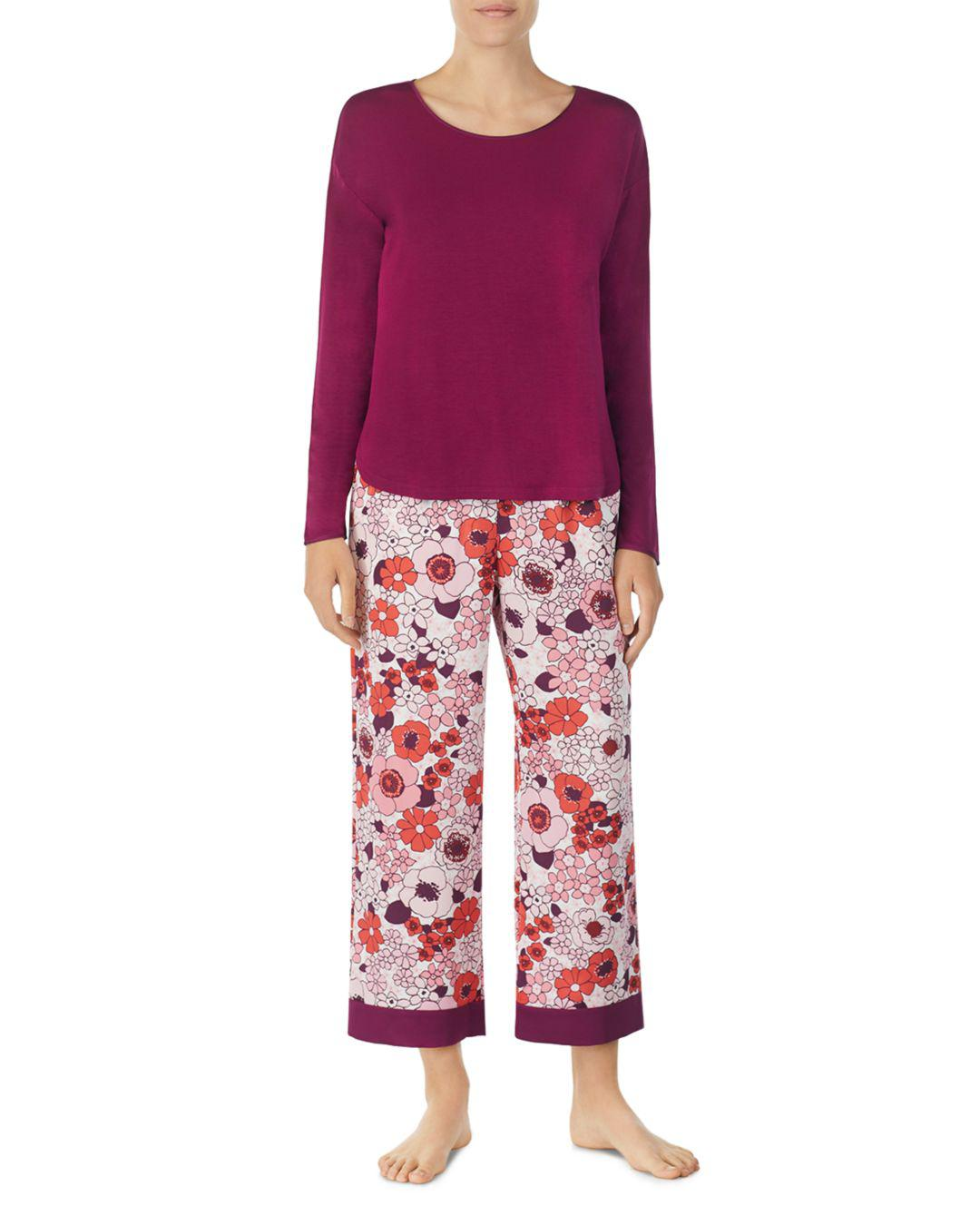 91dcd39e4045 Kate Spade Floral Cropped Pajama Set in Red - Save 10.34482758620689 ...