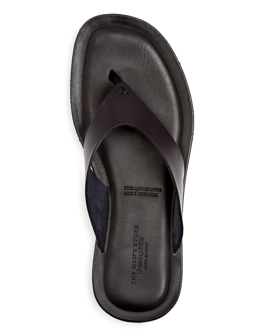 7a132b4945334a Bloomingdale s Men s Leather Thong Sandals in Black for Men - Lyst